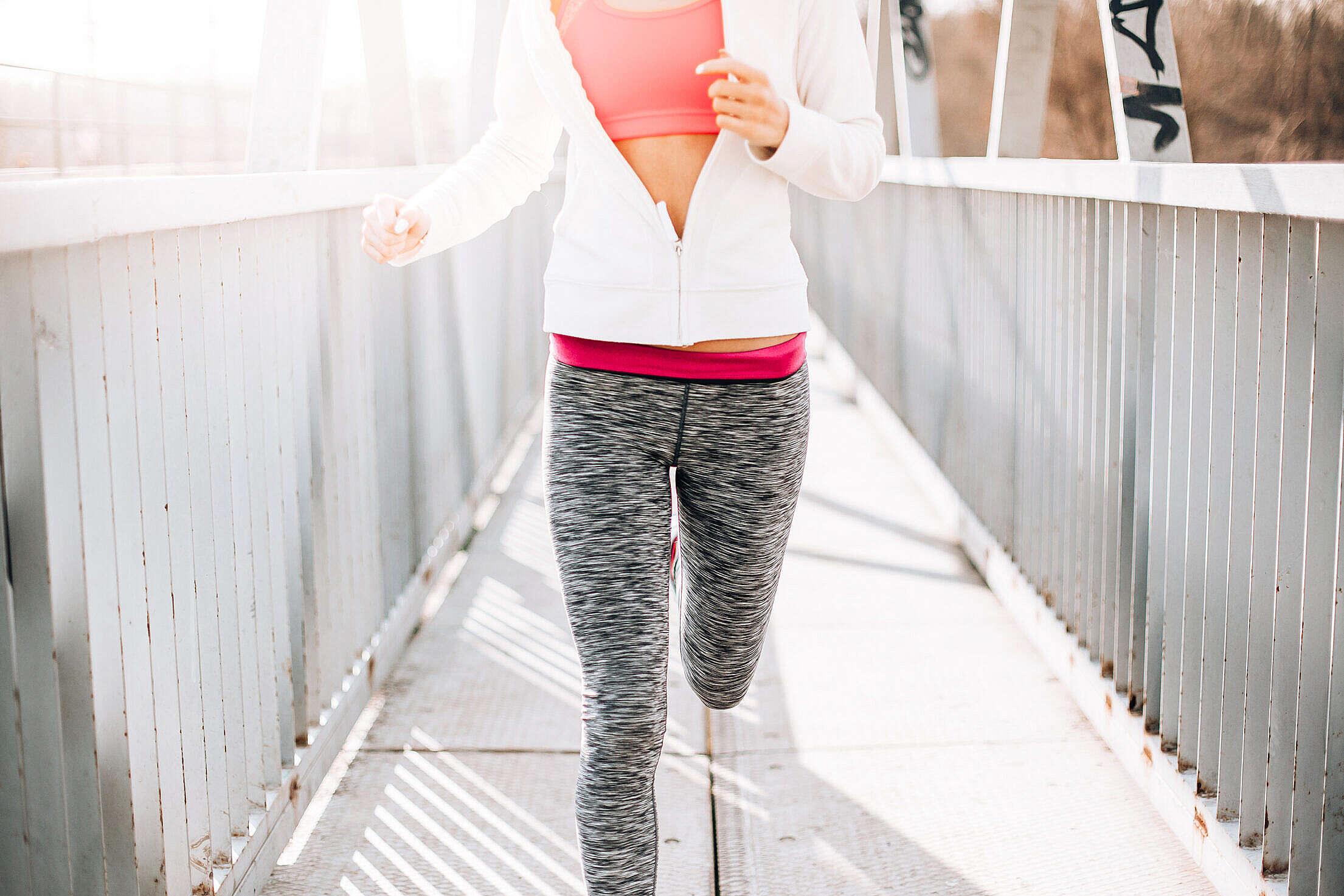 Fitness Girl Jogging Morning Run Free Stock Photo
