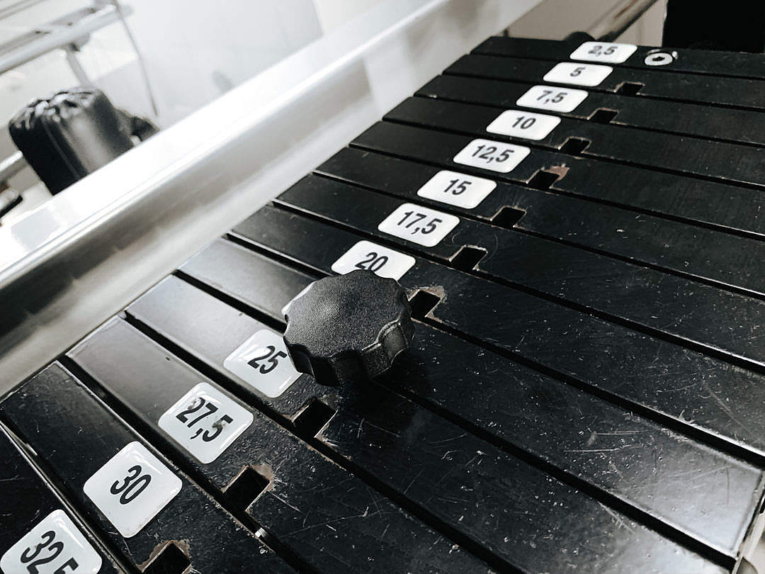 Download Fitness Gym Machine Weights FREE Stock Photo