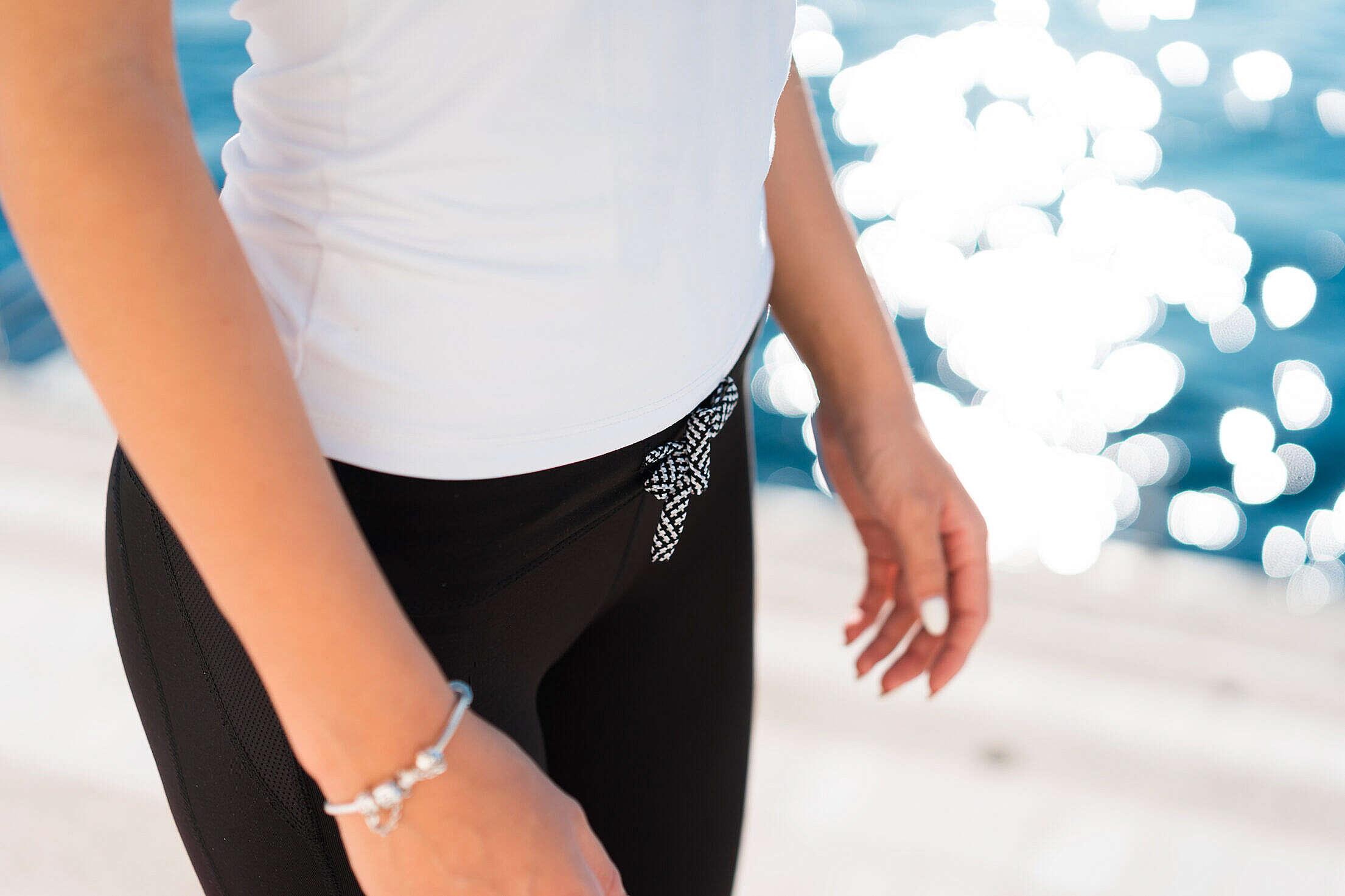 Fitness Woman Leggings Gym Pants Close Up Free Stock Photo