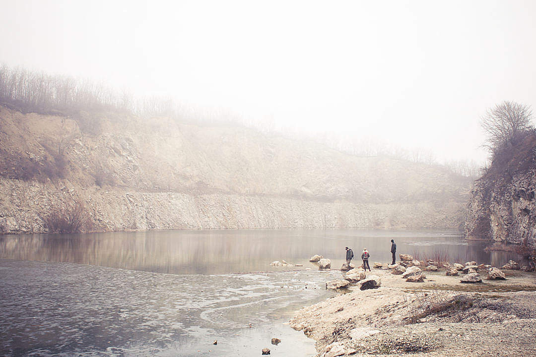 Download Fog in a Quarry FREE Stock Photo