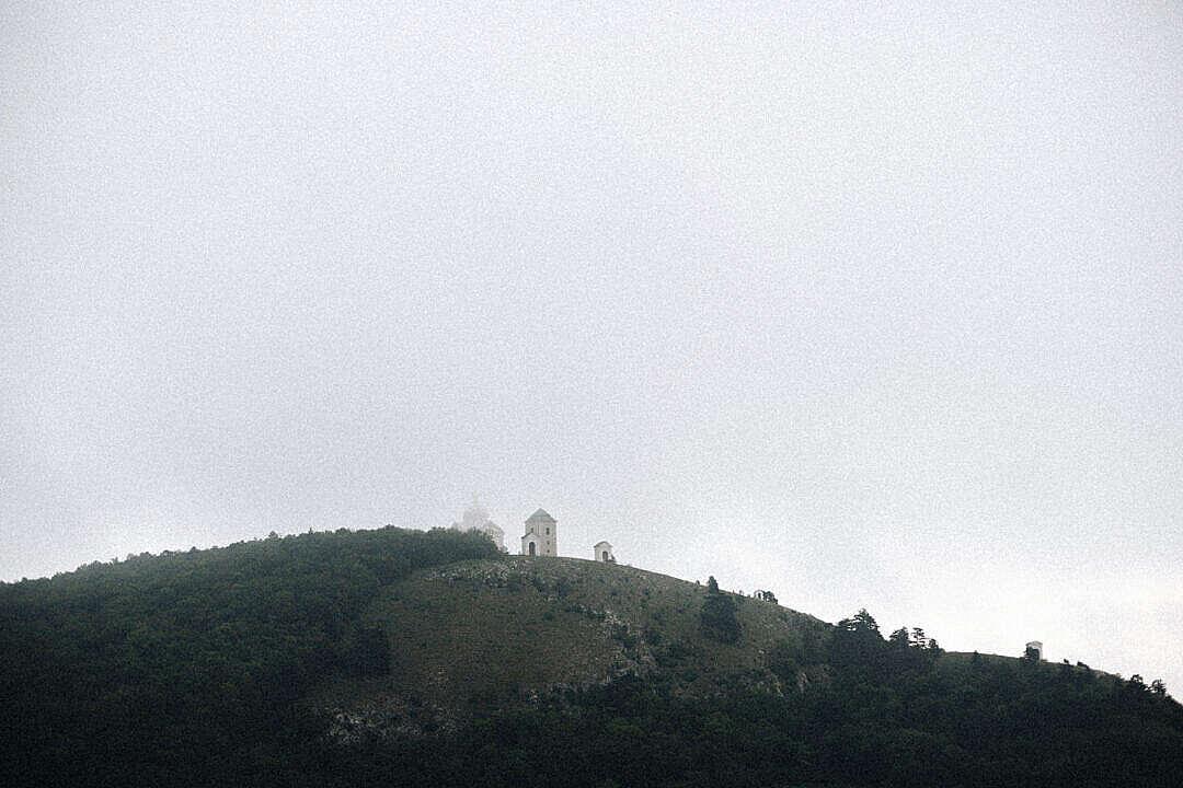 Download Foggy Weather on Svaty Kopecek in Mikulov, South Moravia FREE Stock Photo