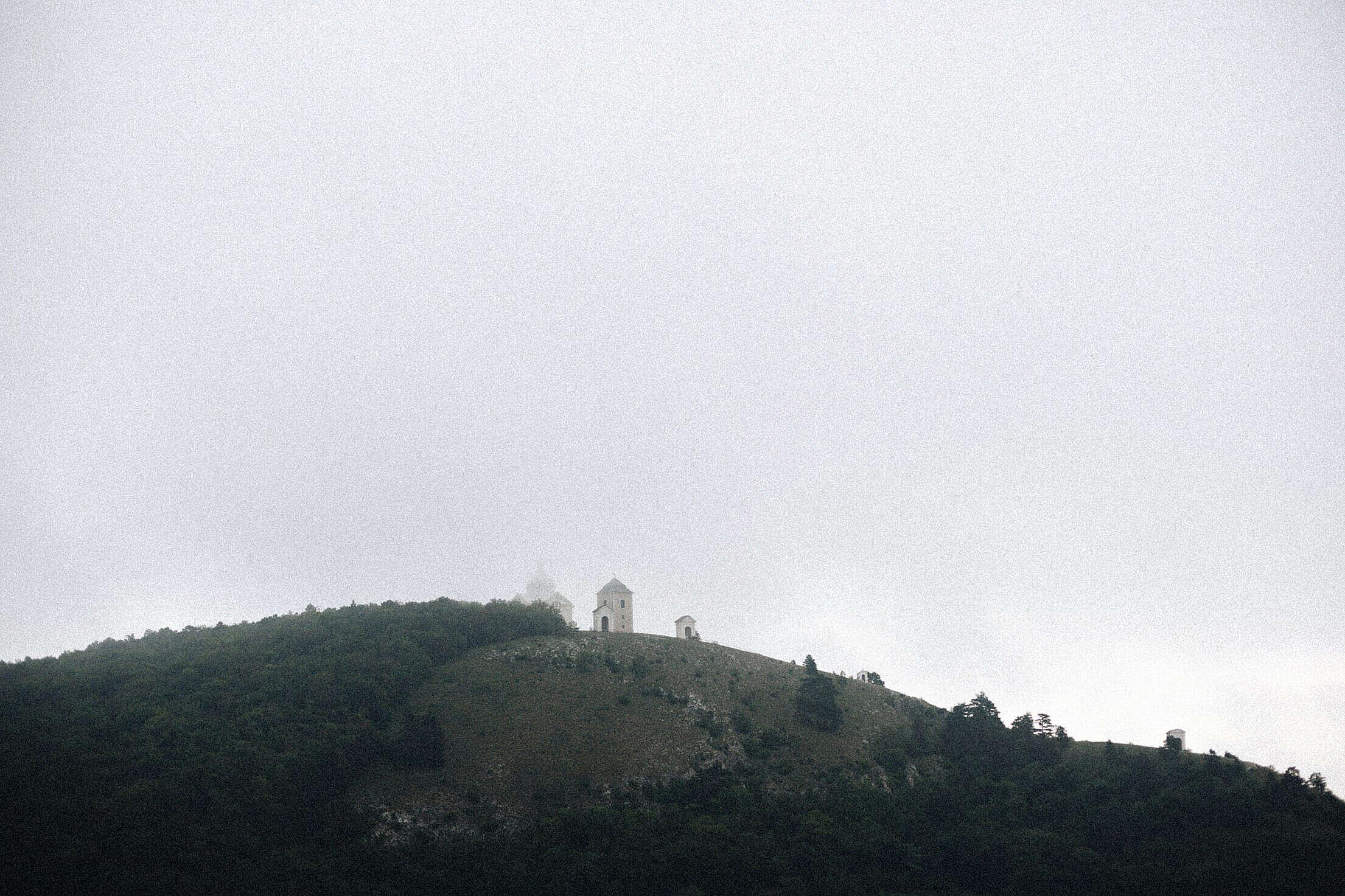 Foggy Weather on Svaty Kopecek in Mikulov, South Moravia Free Stock Photo