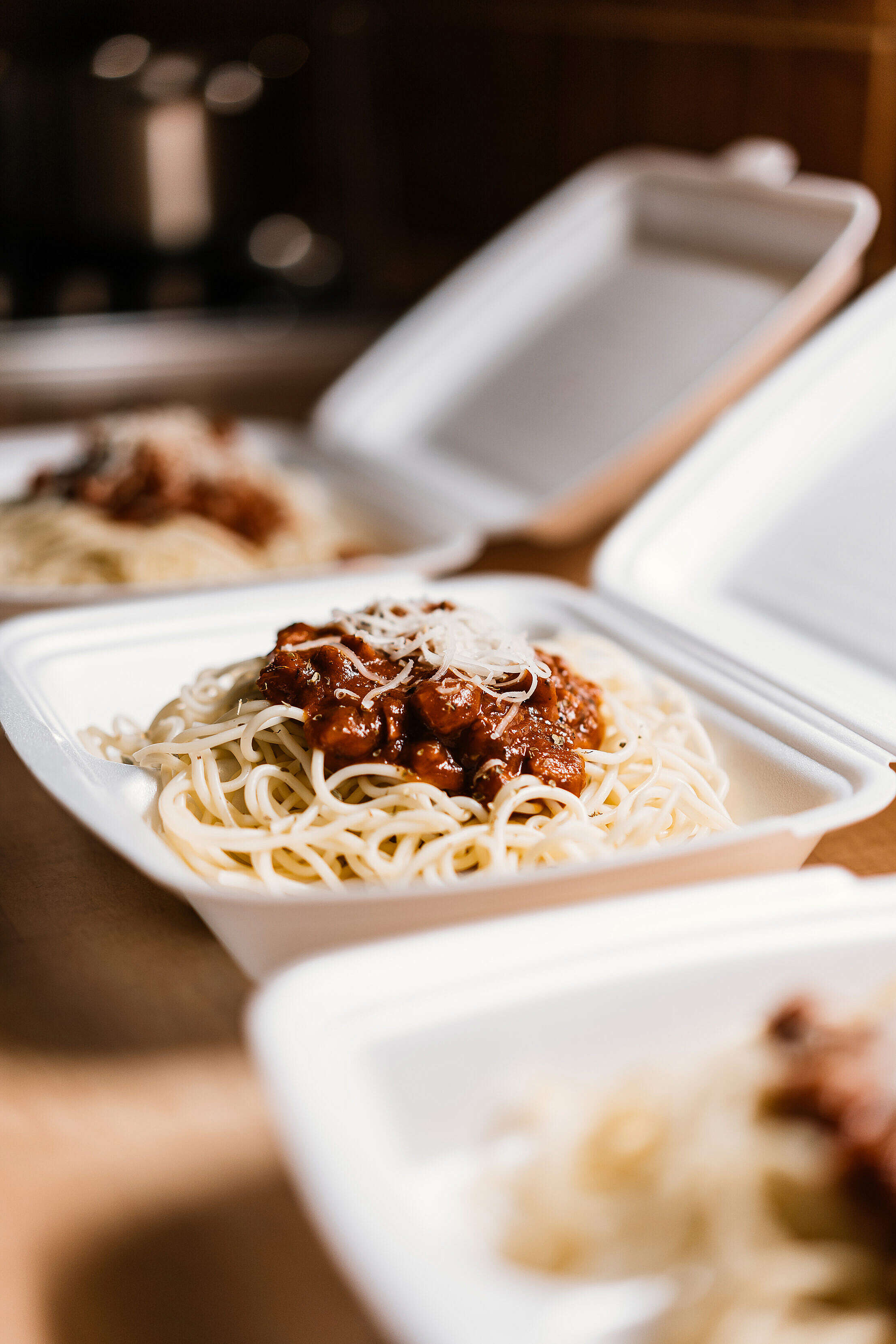 Food from The Restaurant in The Box Free Stock Photo