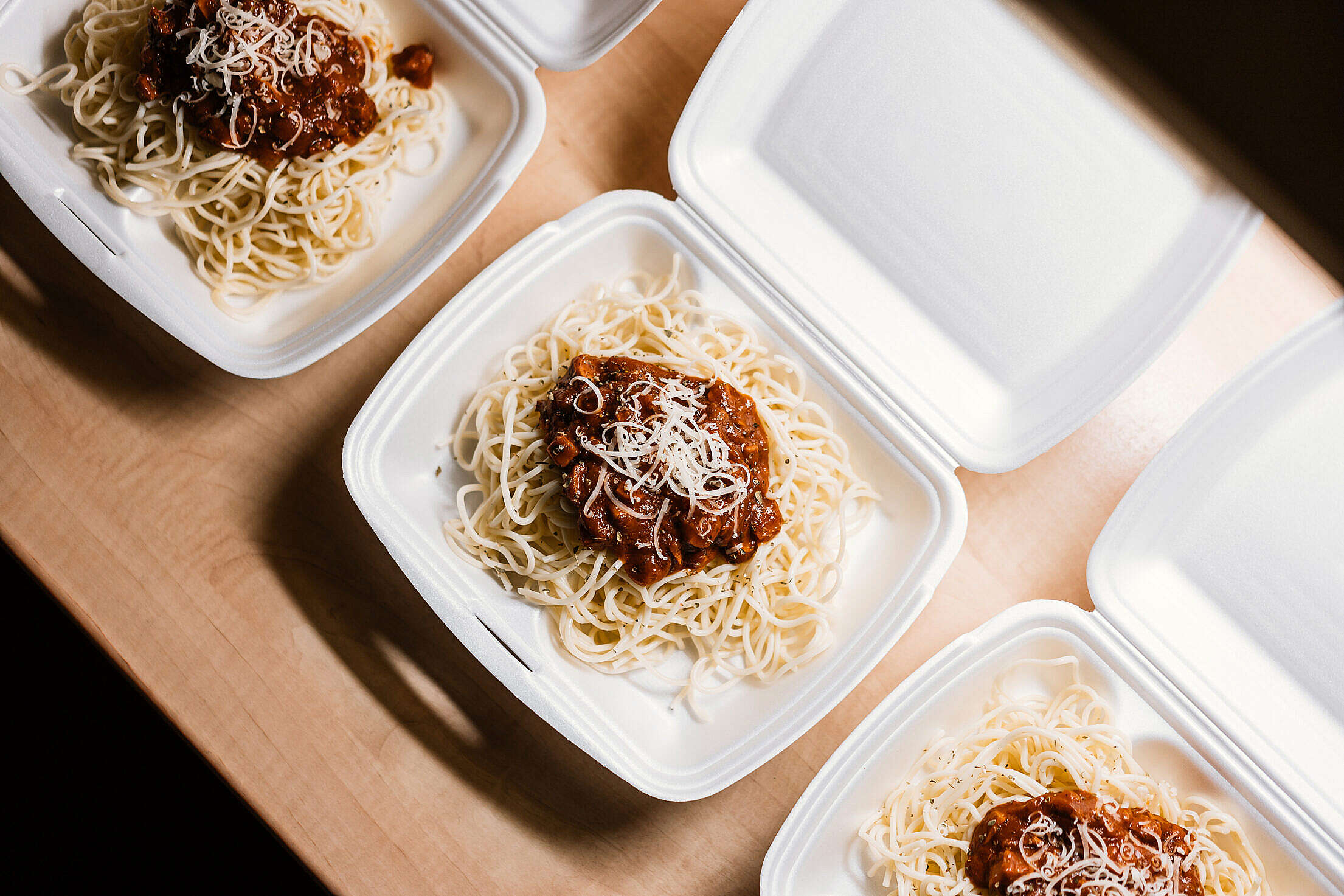 Food in The Dining Box Free Stock Photo
