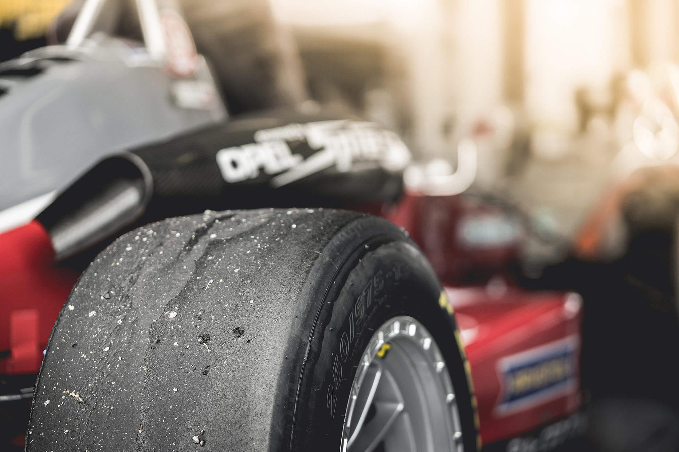 Formula 1 Monopost Tire Close Up Free Stock Photo