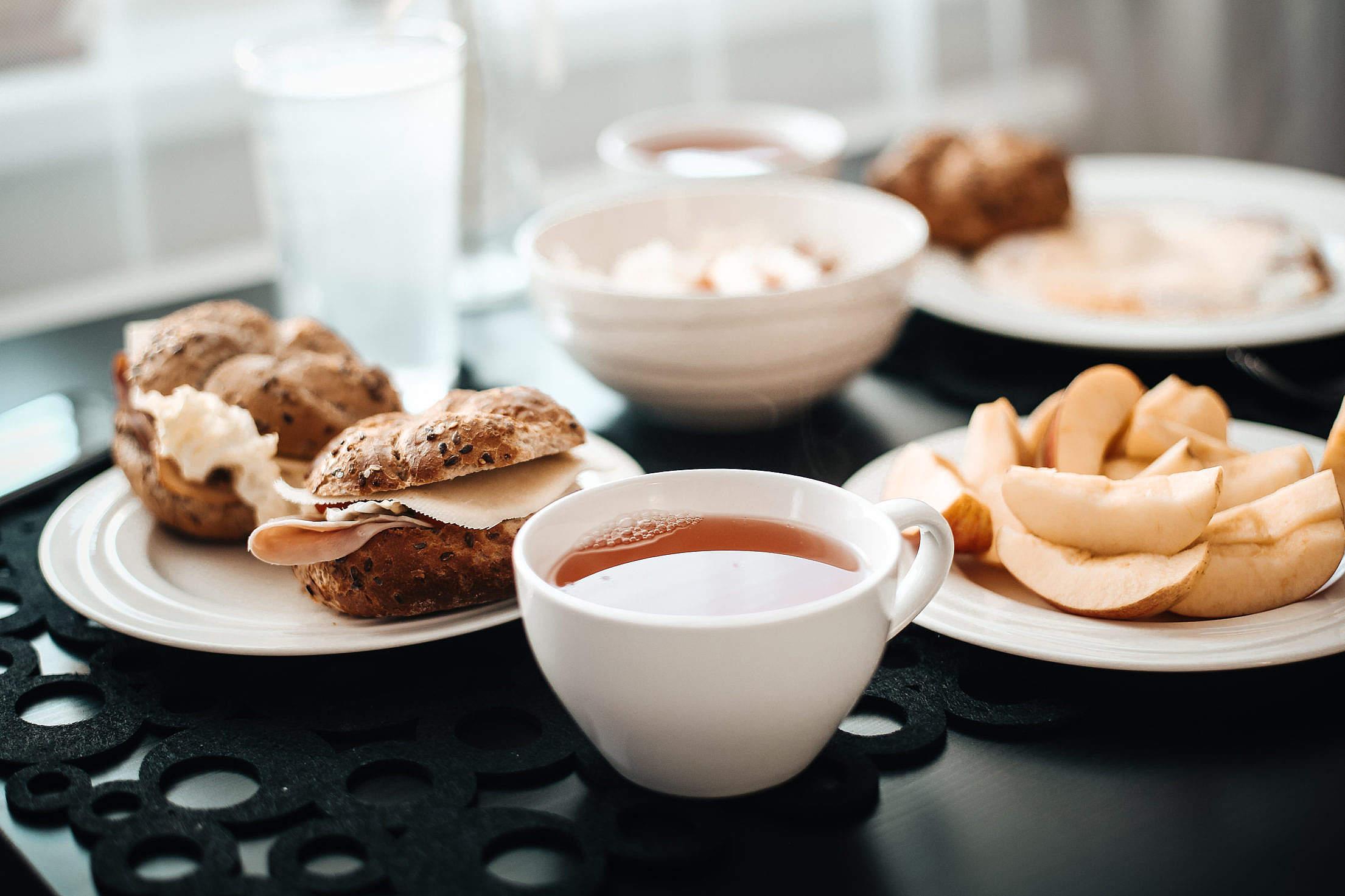 Fresh & Healthy Morning Breakfast Free Stock Photo