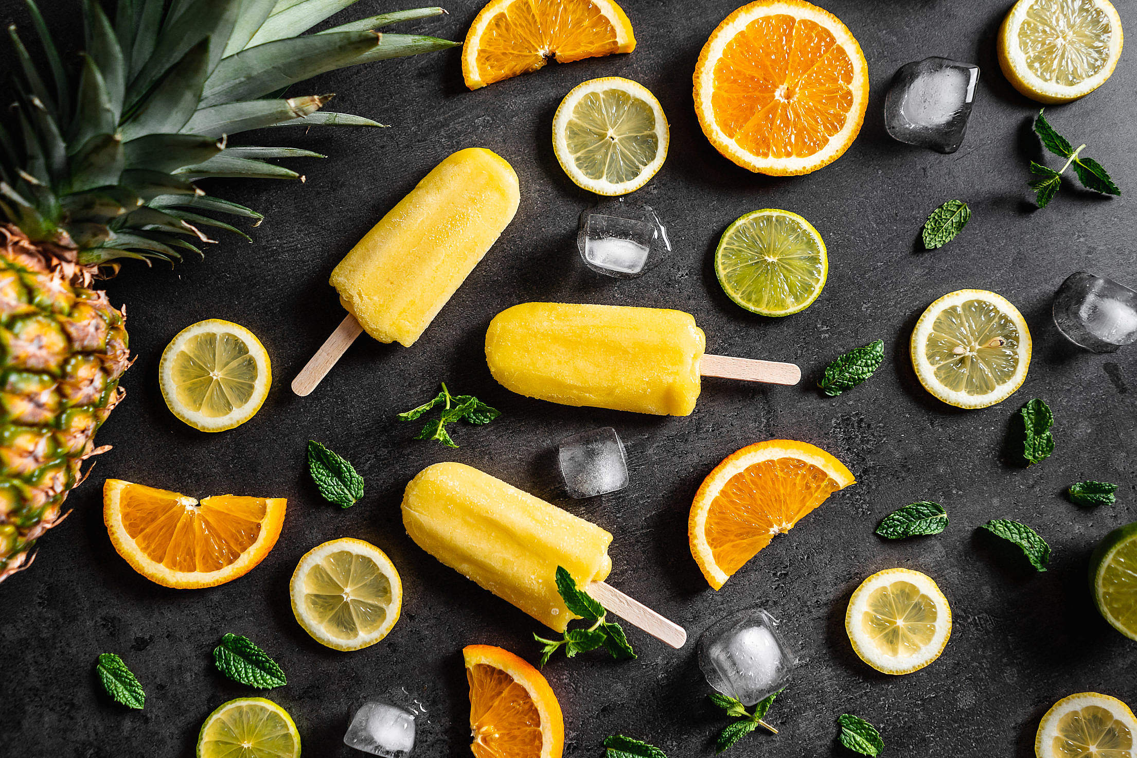 Fresh Fruity Ice Lolly Free Stock Photo