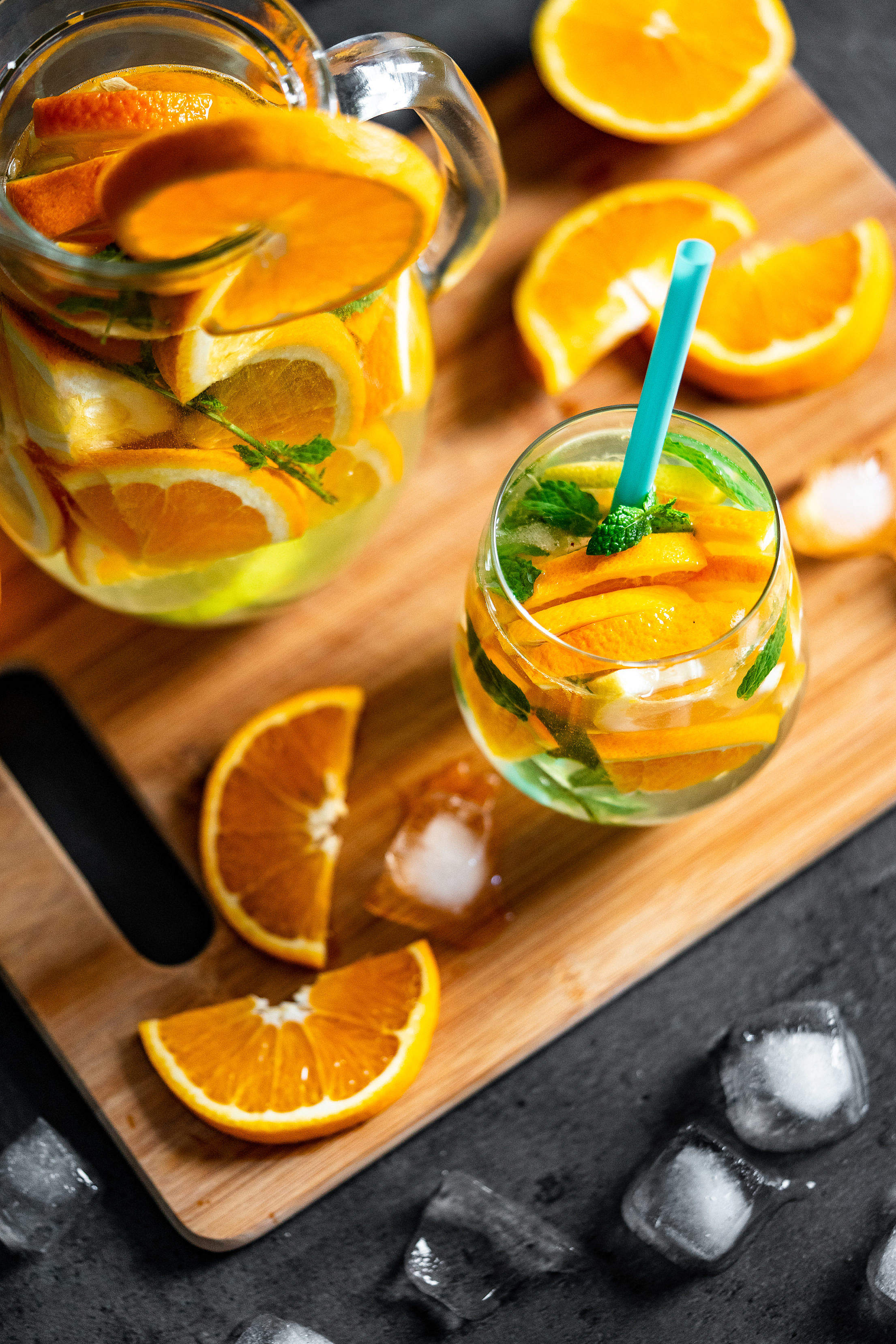 Fresh Orange Drink Vertical Free Stock Photo