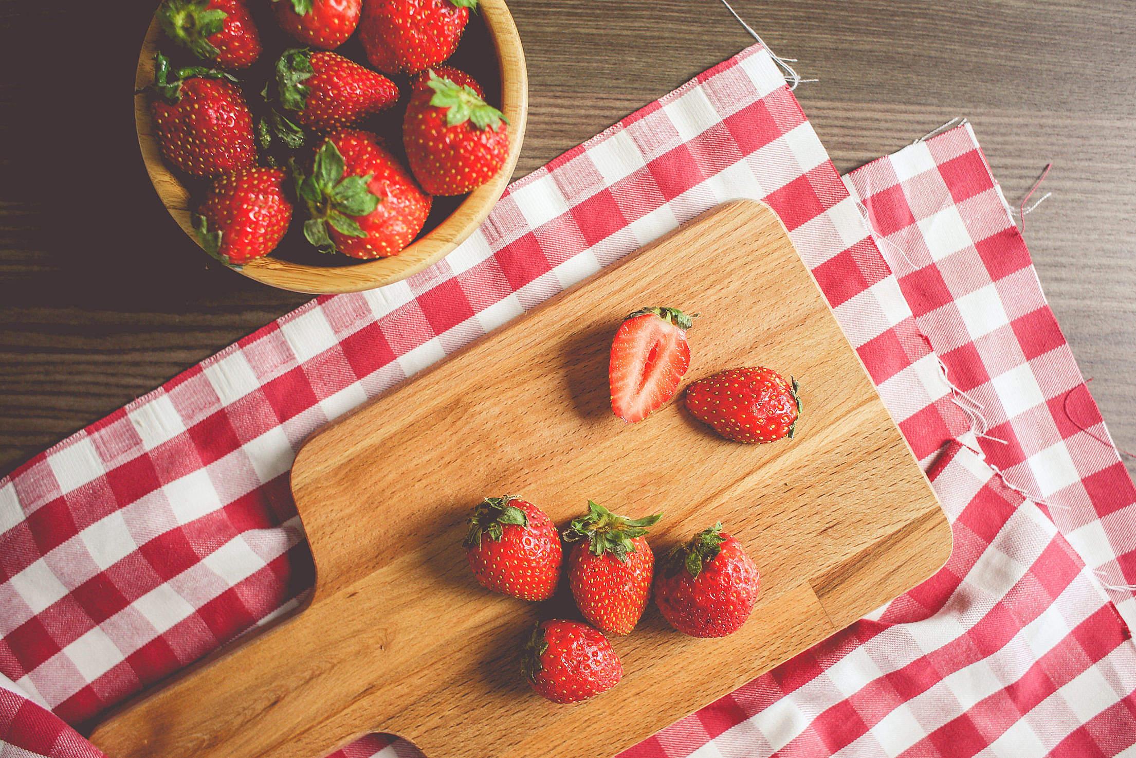 Fresh Strawberries Free Stock Photo