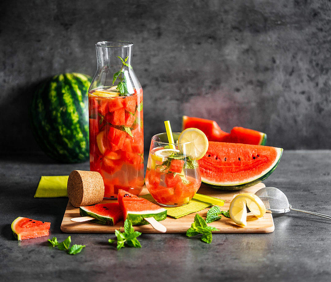 Download Fresh Watermelon Summer Drink FREE Stock Photo