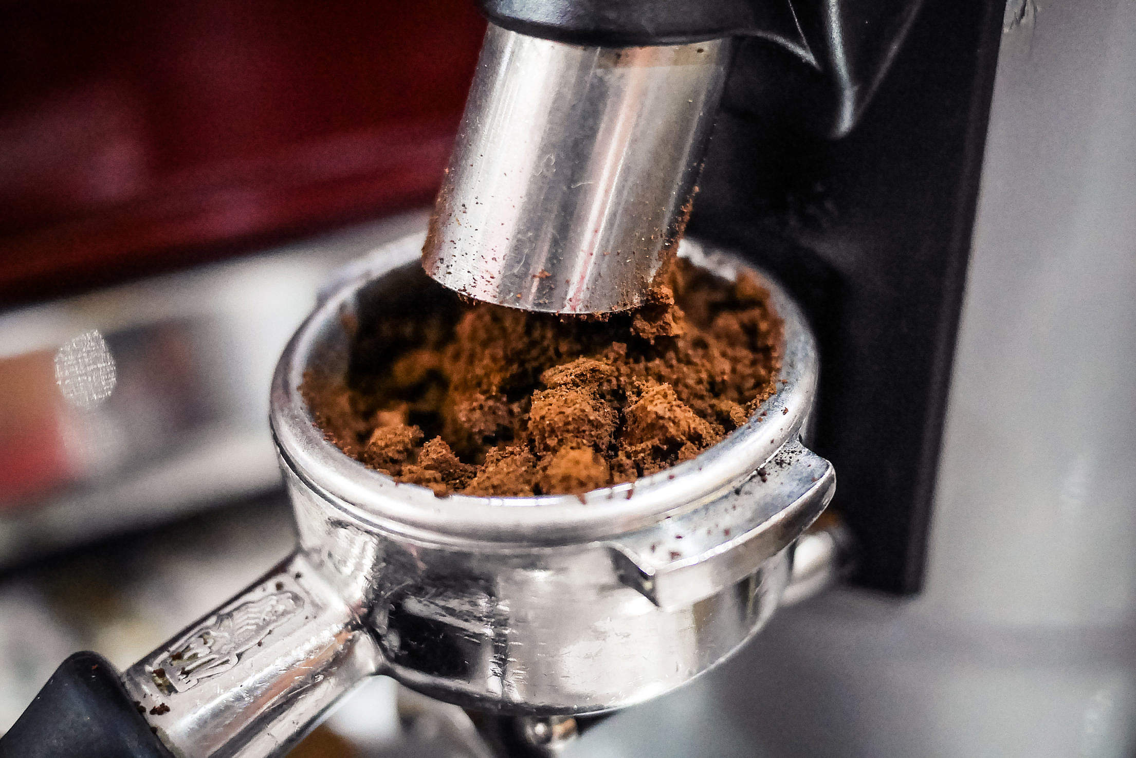 Download Freshly Ground Coffee from Coffee Grinder Free Stock Photo