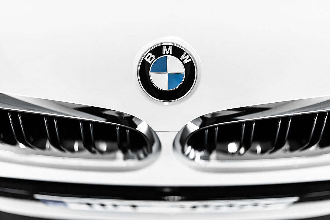 Download Front Grille of a BMW Car FREE Stock Photo