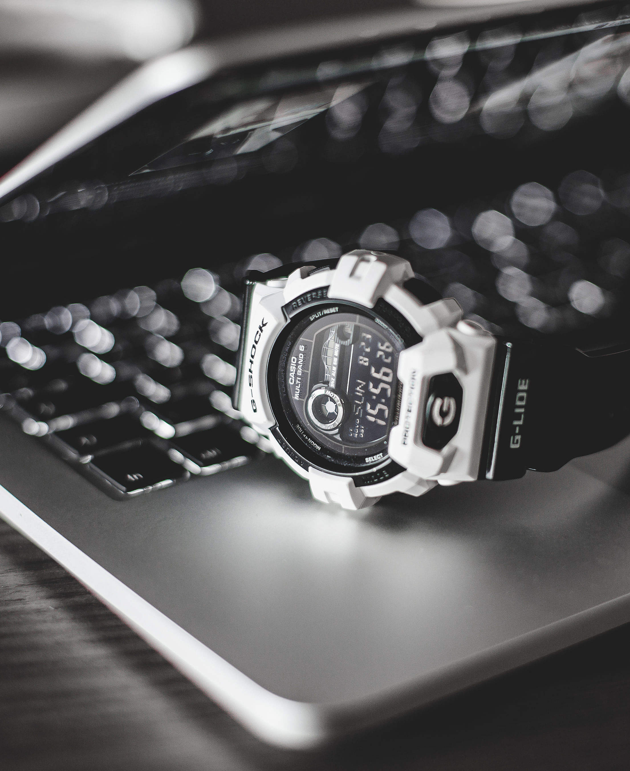 G-Shock Watches on Laptop Free Stock Photo