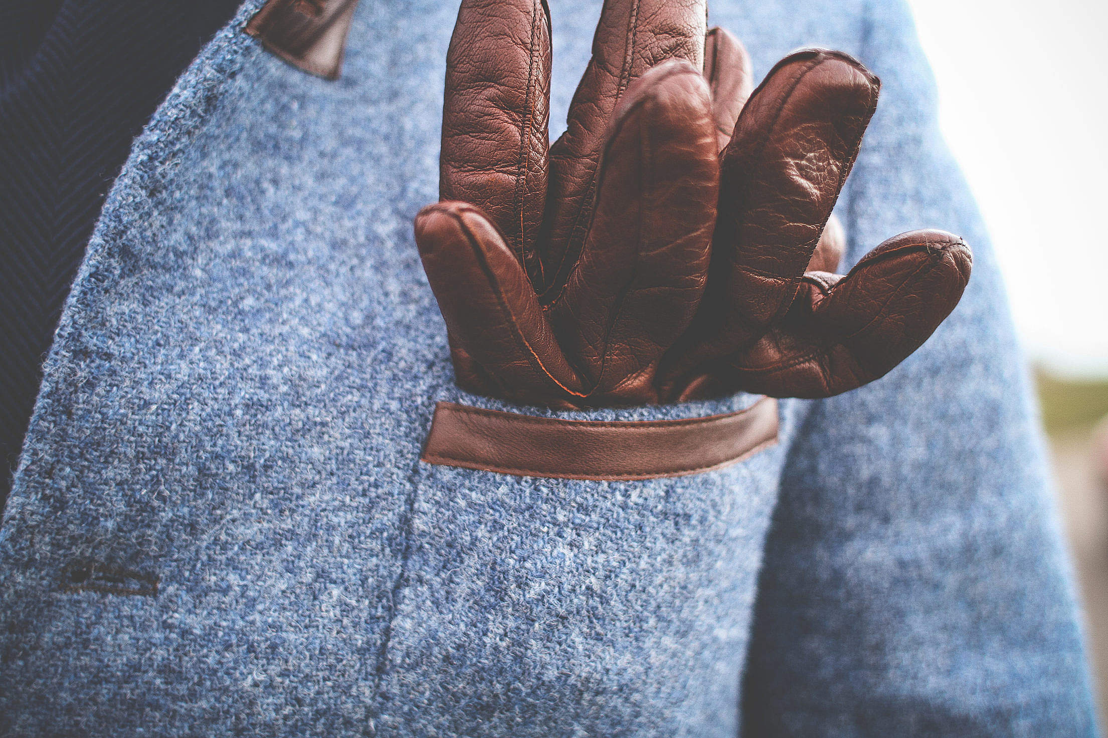 Gentleman's Driving Leather Gloves Free Stock Photo