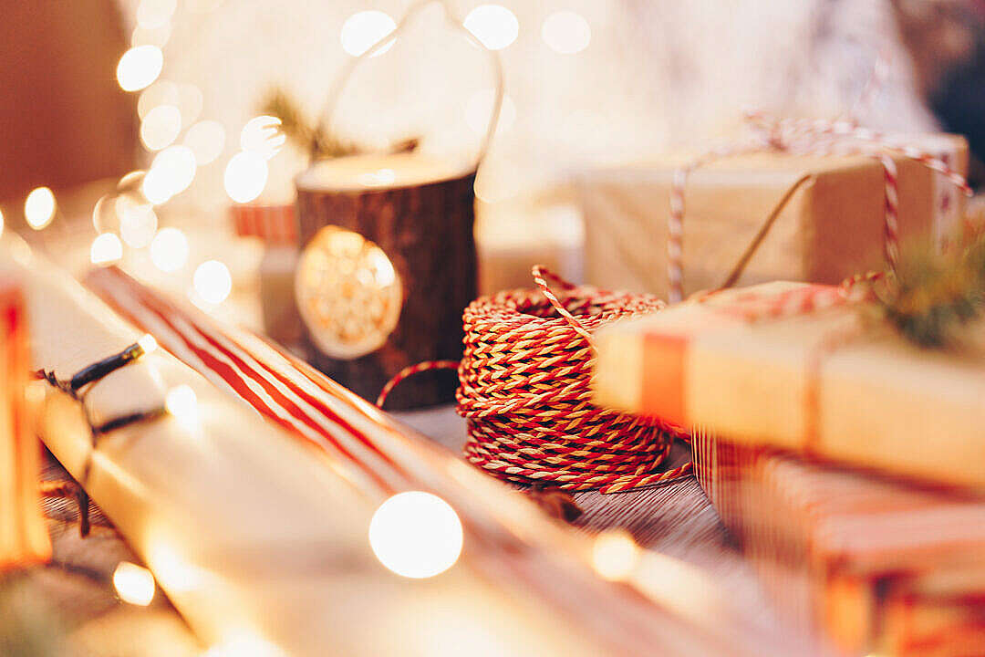Download Gift Wrapping Supplies FREE Stock Photo