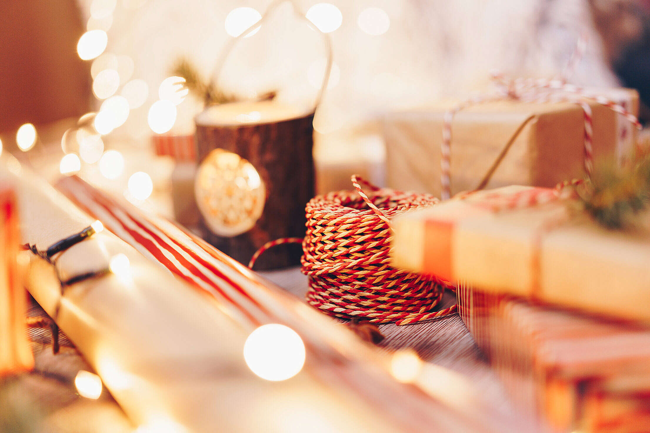 Gift Wrapping Supplies Free Stock Photo