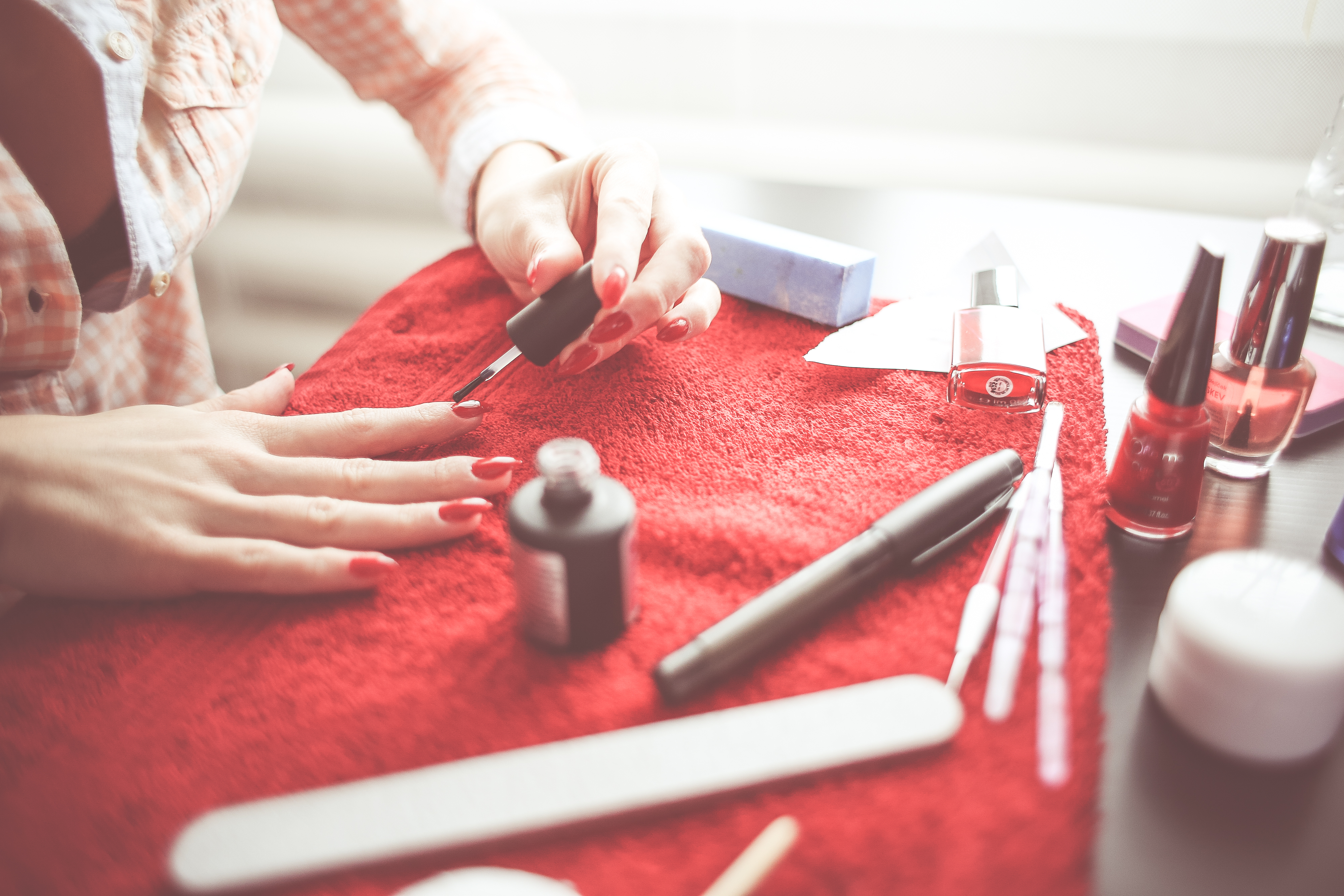 Download Girl Got Her Nails Done FREE Stock Photo