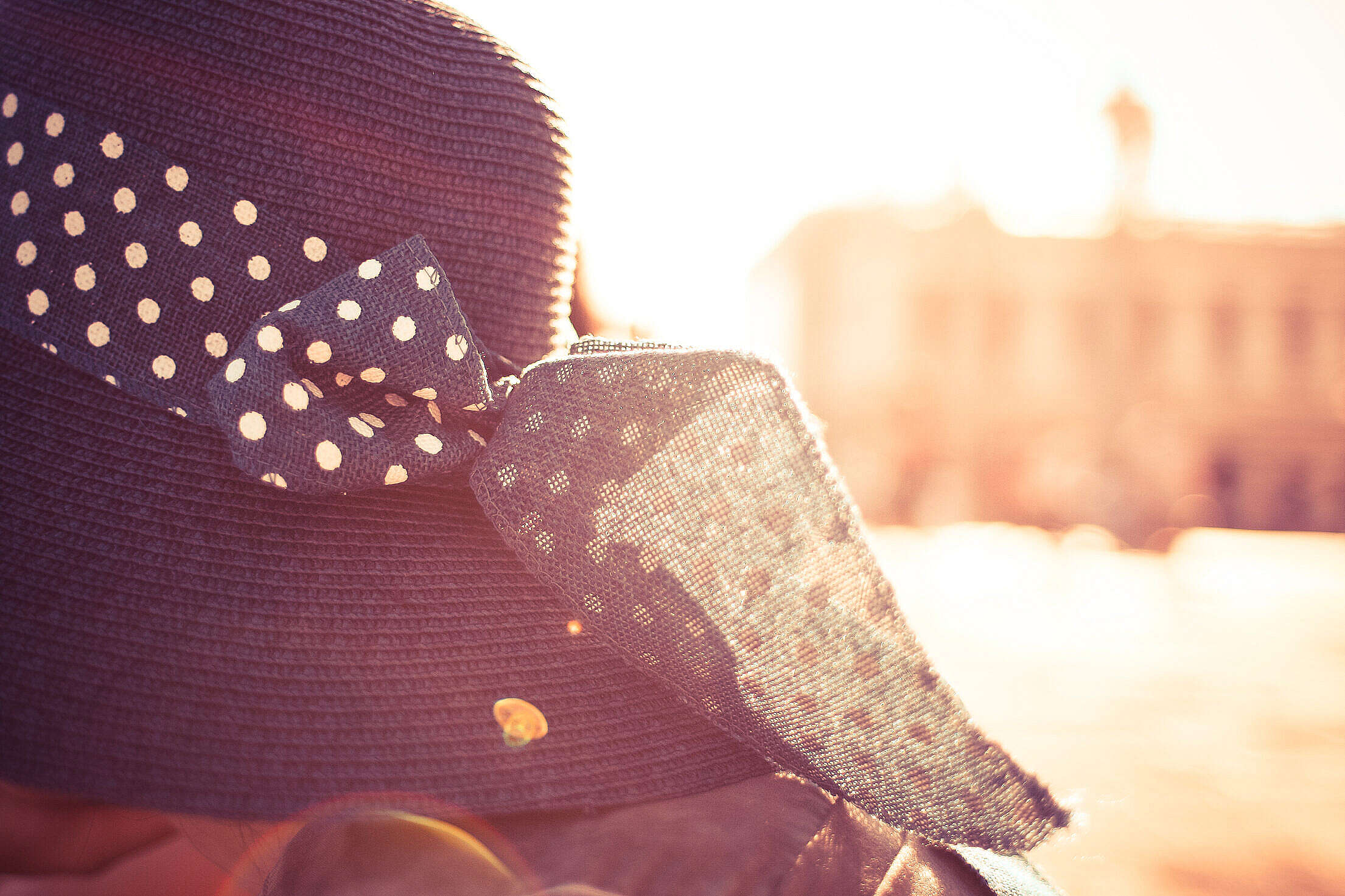 Girl Hat in Sunlights Free Stock Photo