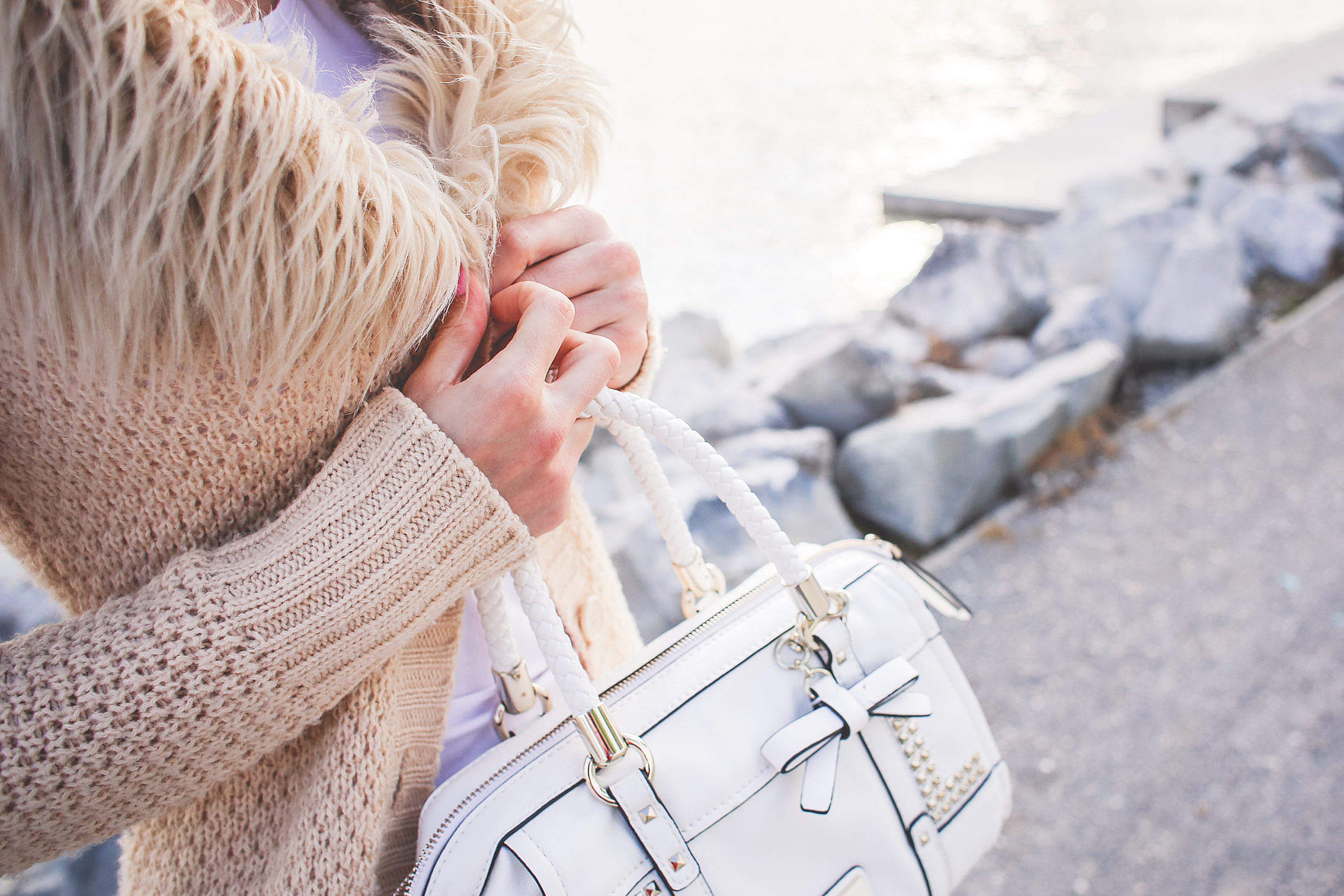 Girl with a Brown Sweater Free Stock Photo