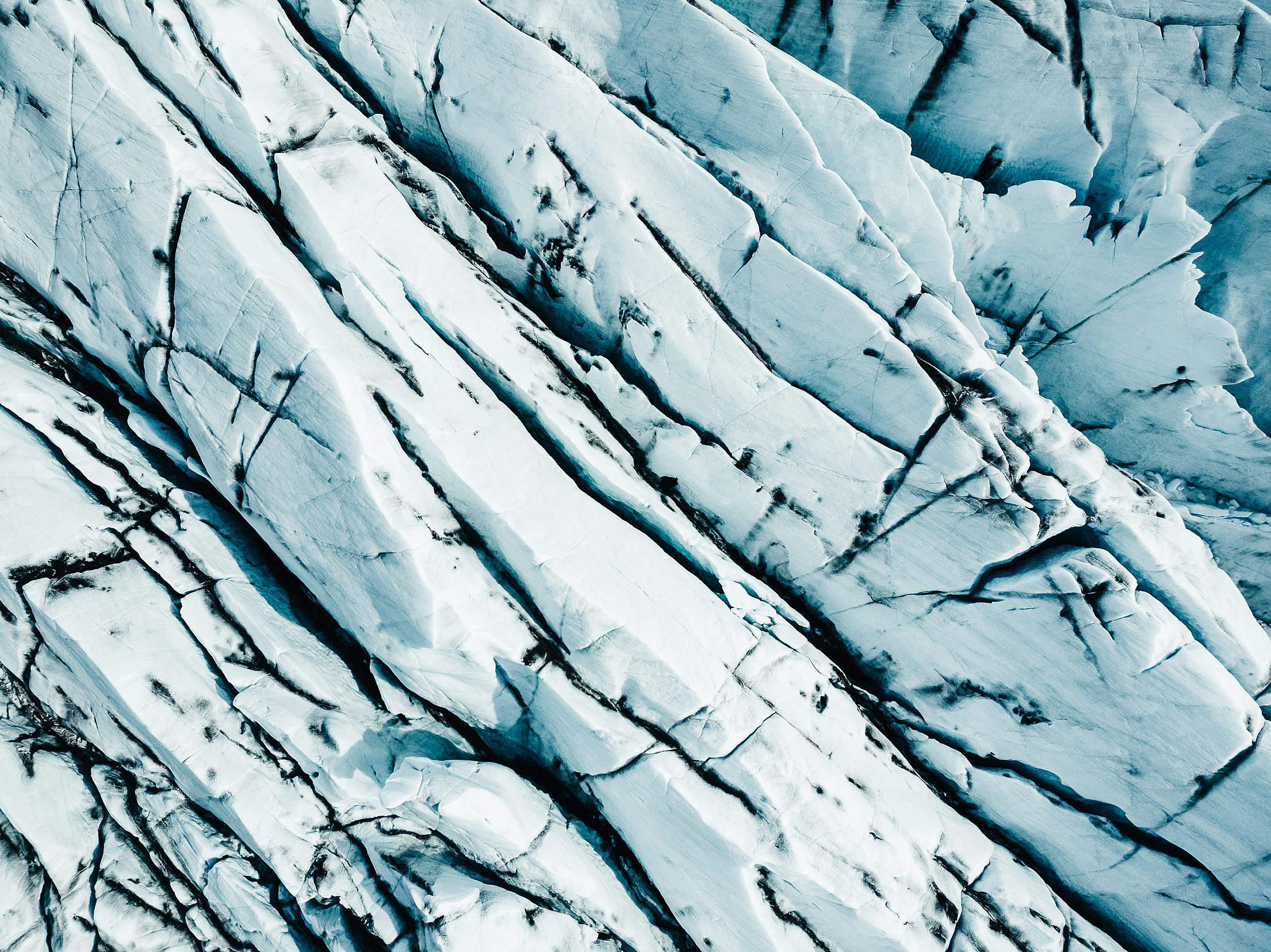 Glacier Texture Free Stock Photo