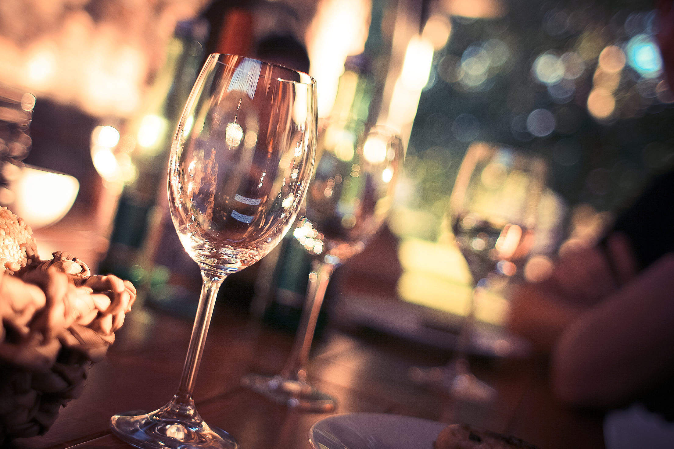 Glass for Wine Gardenparty Free Stock Photo
