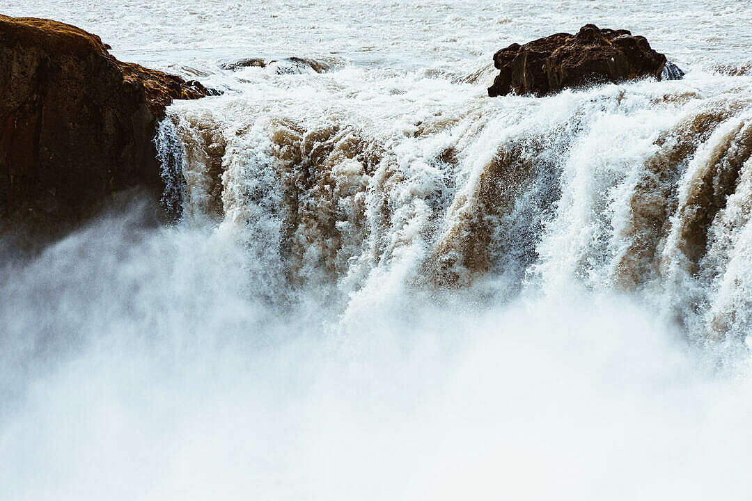 Download Goðafoss Waterfall Close Up FREE Stock Photo