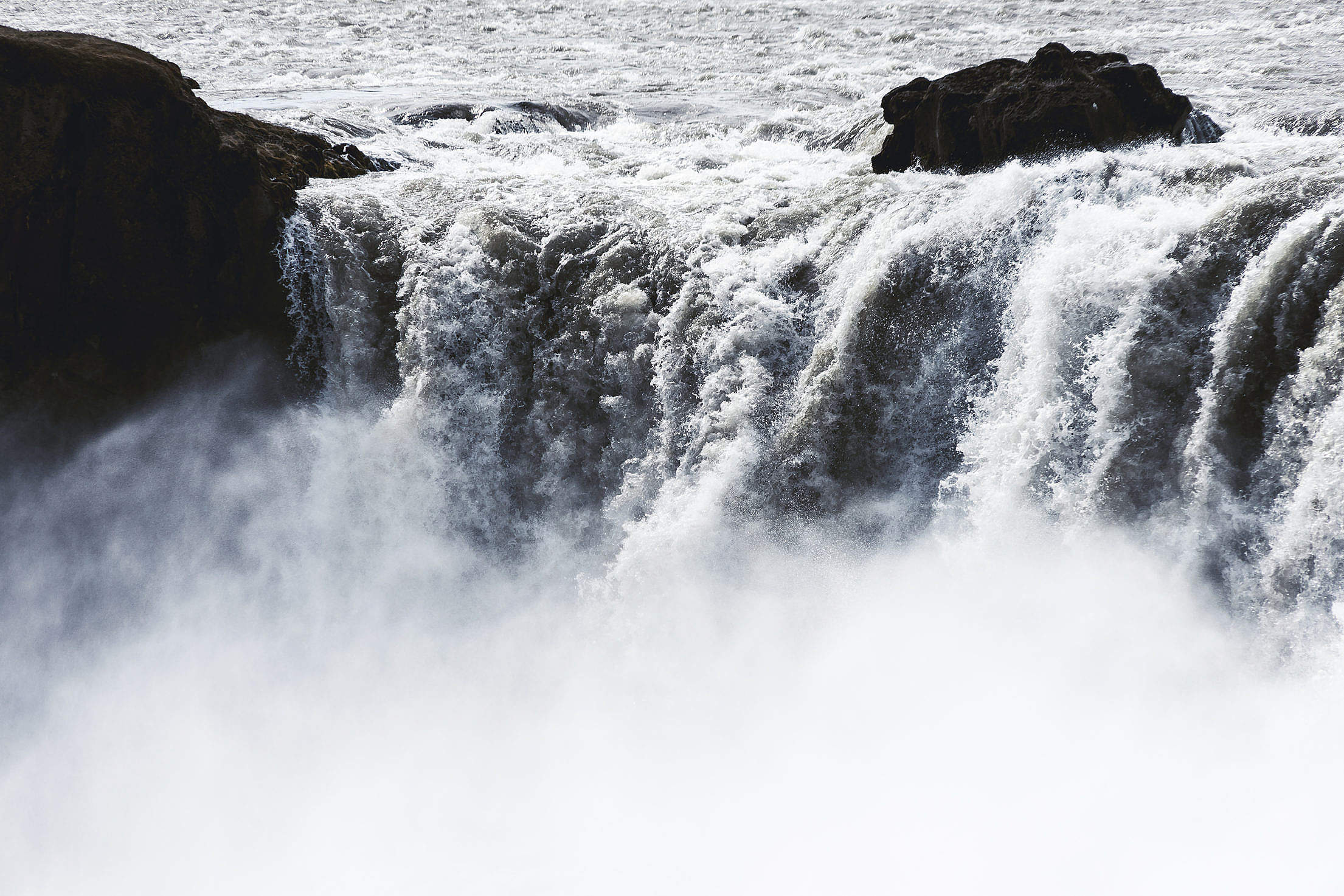 Goðafoss Waterfall from Above in Iceland Free Stock Photo