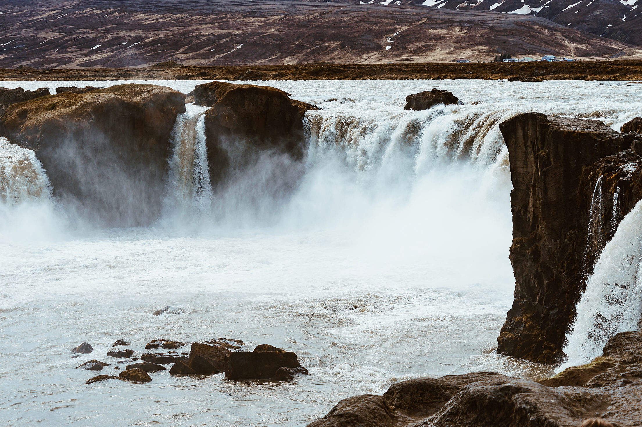 Goðafoss Waterfall in Iceland Free Stock Photo