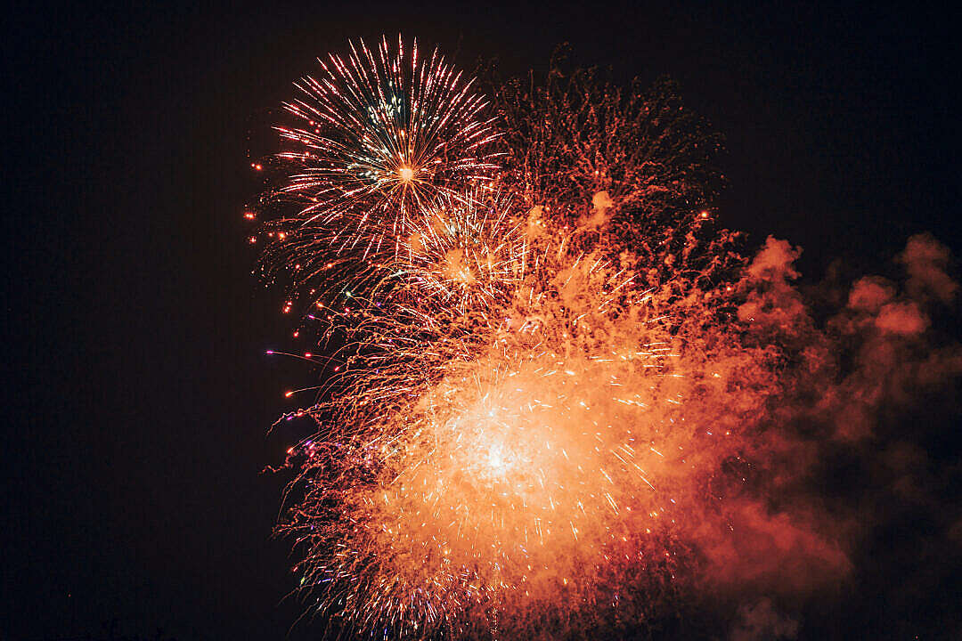 Download Golden Fireworks 4th of July FREE Stock Photo