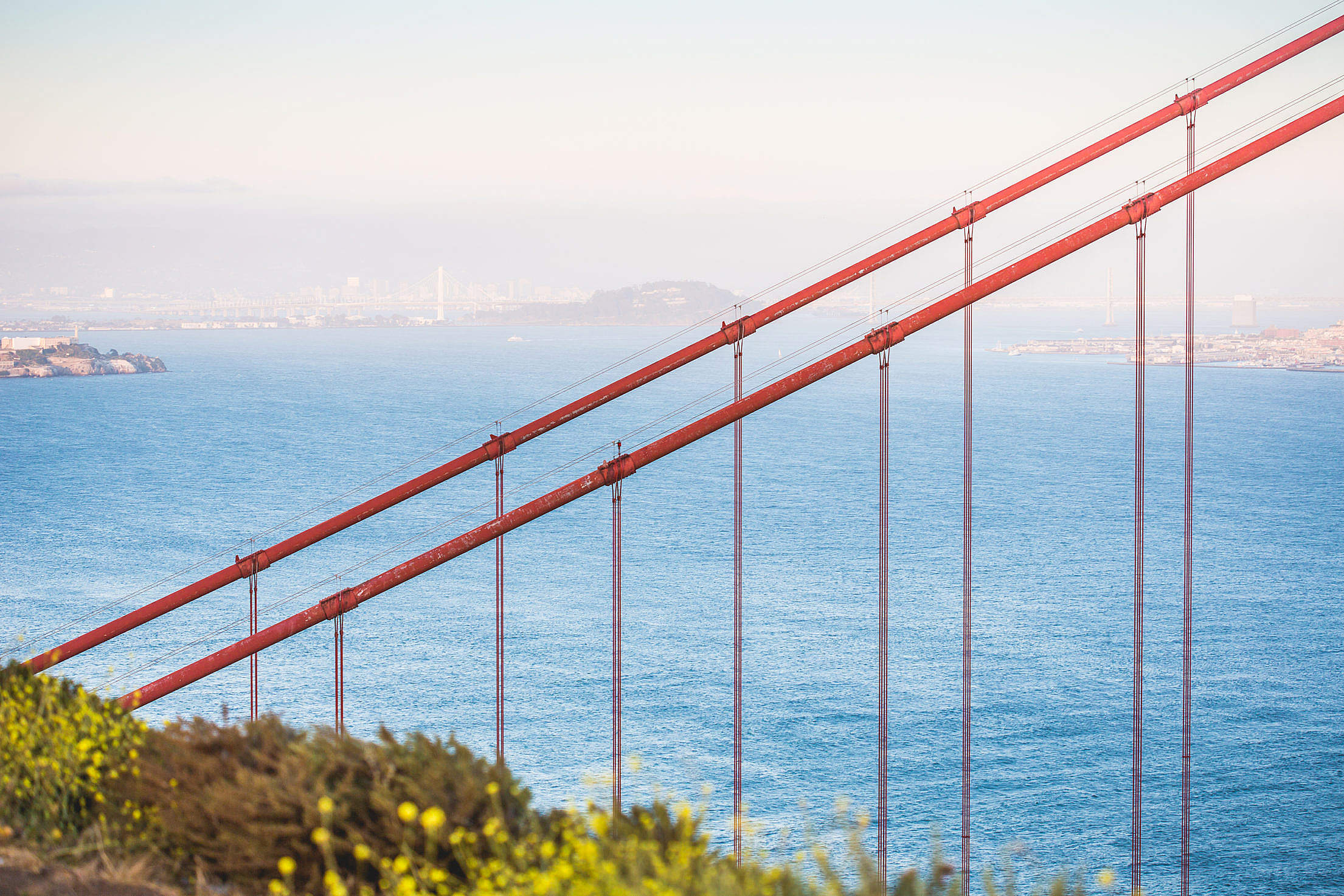 Golden Gate Bridge Suspension Cables Free Stock Photo