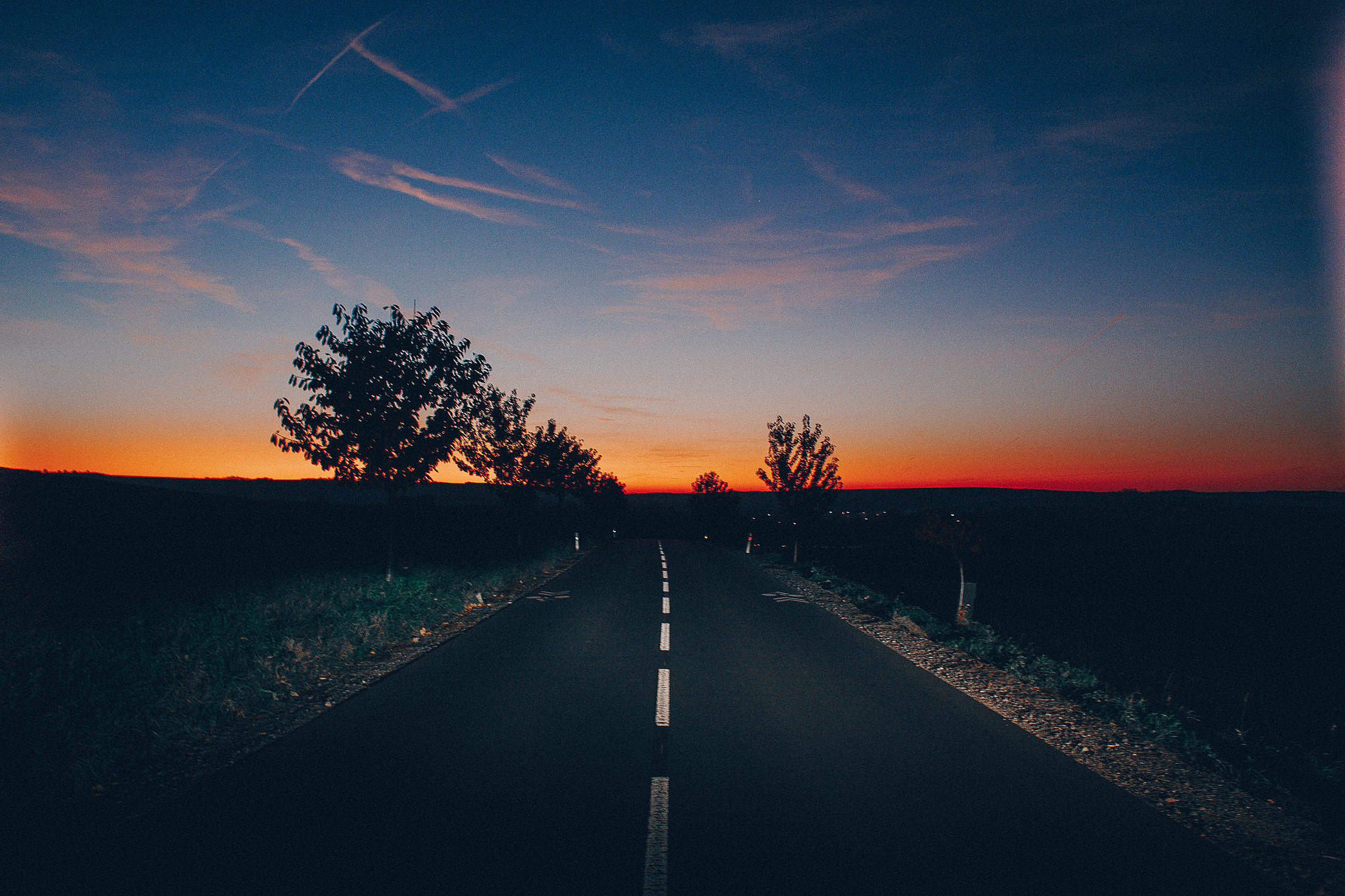 Golden Sky After Sunset Free Stock Photo