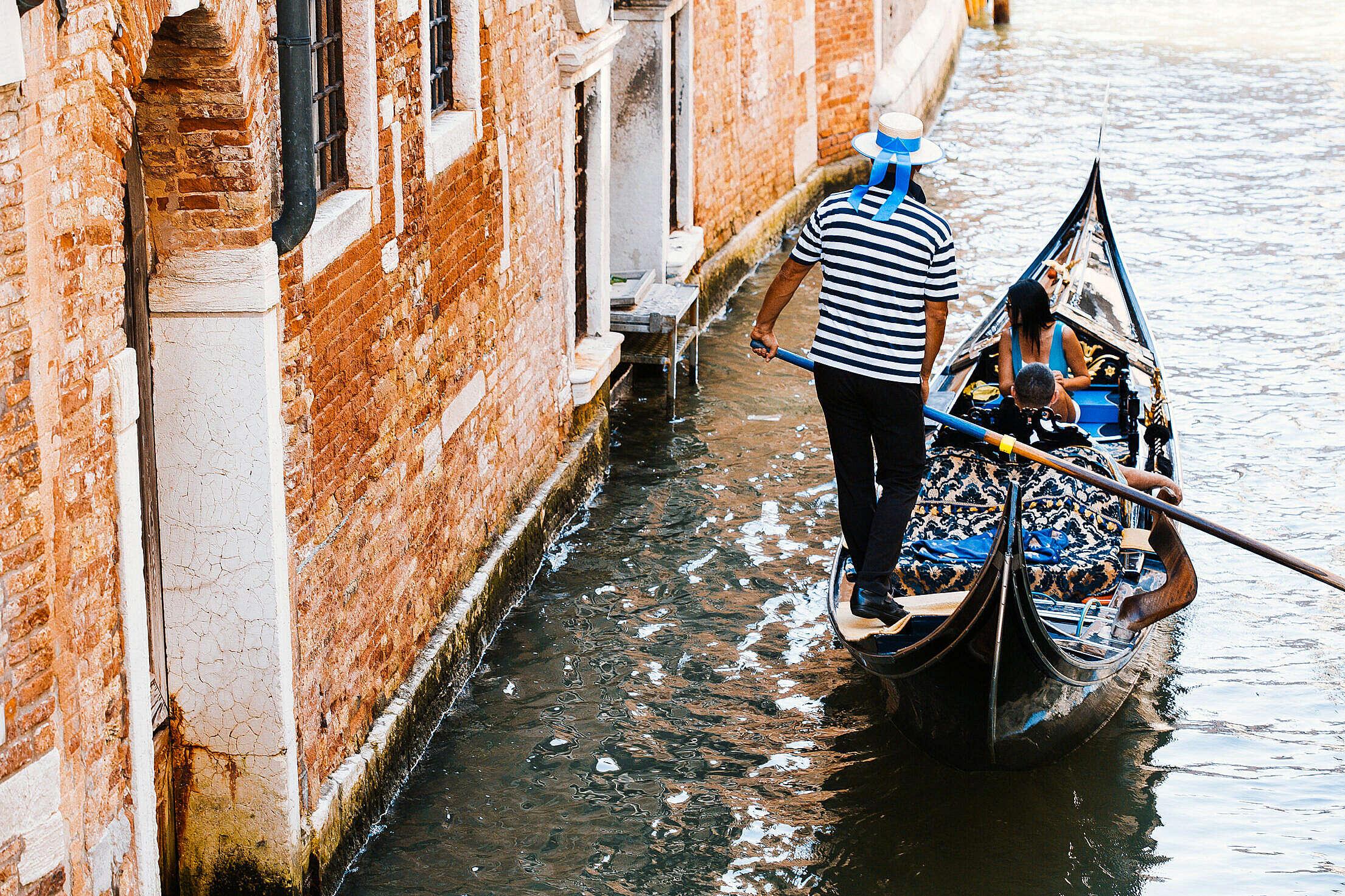 Gondola in Venice, Italy Free Stock Photo