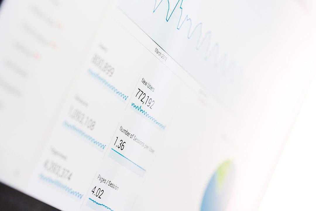 Download Google Analytics Stats FREE Stock Photo