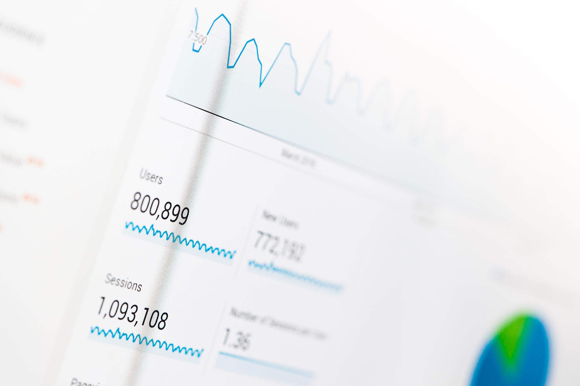 Google Analytics Website Traffic Dashboard Free Stock Photo