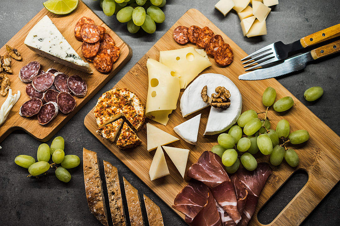Download Gourmet Cheese Plate FREE Stock Photo
