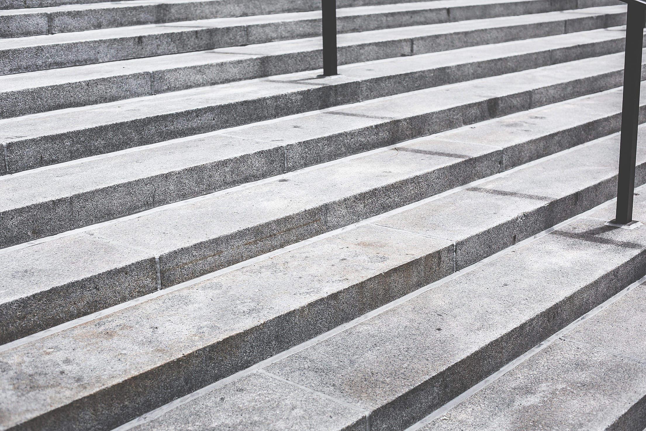 Gray Concrete Stairs Free Stock Photo