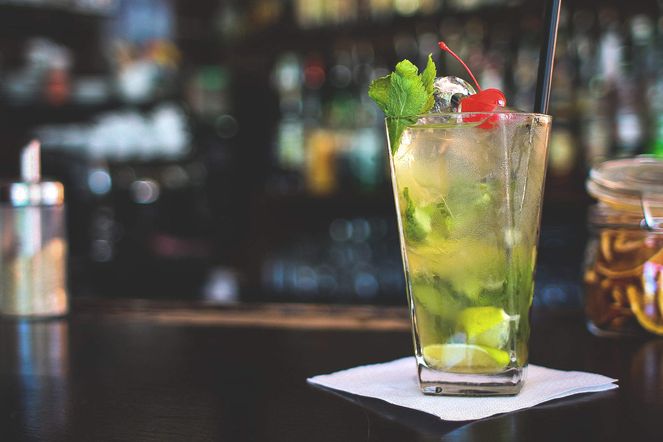 Great Virgin Mojito Drink Free Stock Photo