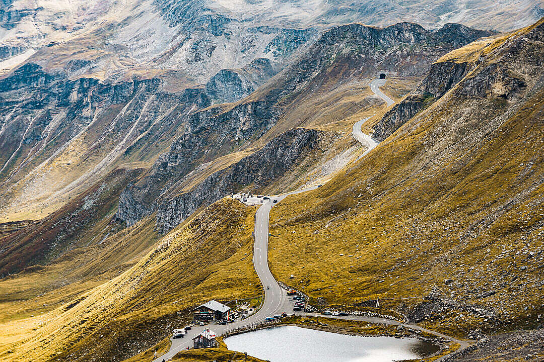 Download Grossglockner Mountain Road Alpine Pass Tunnel FREE Stock Photo