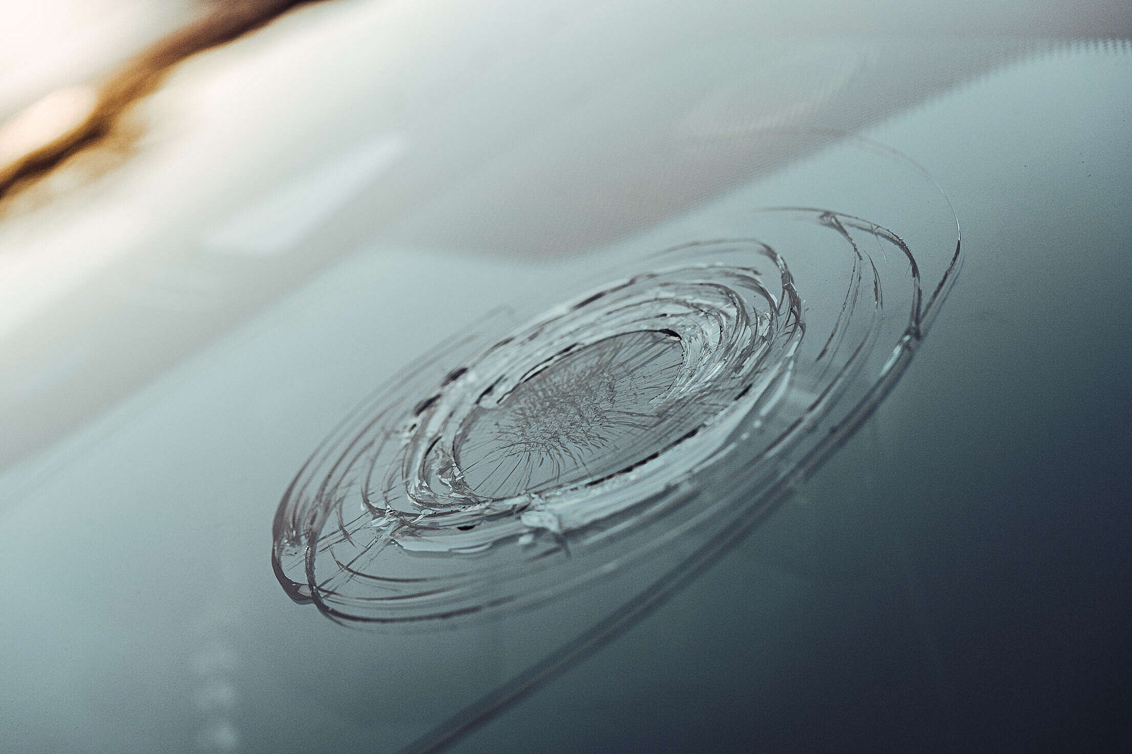 Hail Damaged Windshield of a Car Free Stock Photo