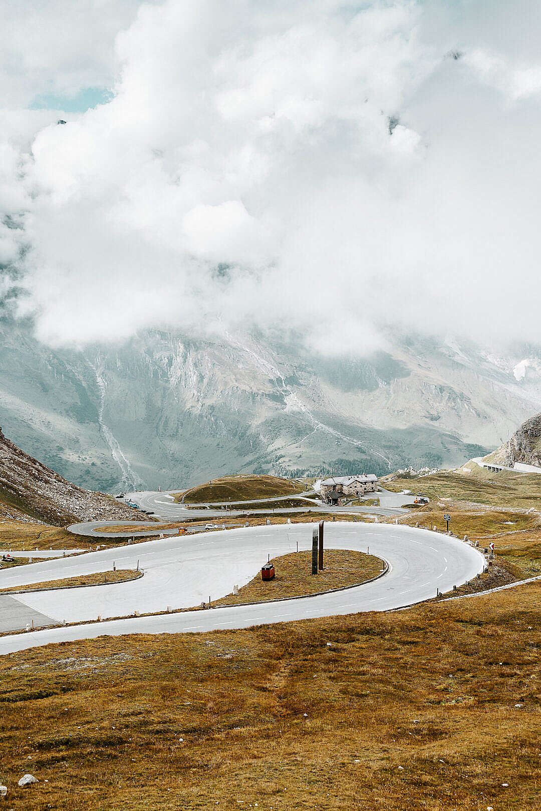 Download Hairpin Turn on Grossglockner High Alpine Road FREE Stock Photo