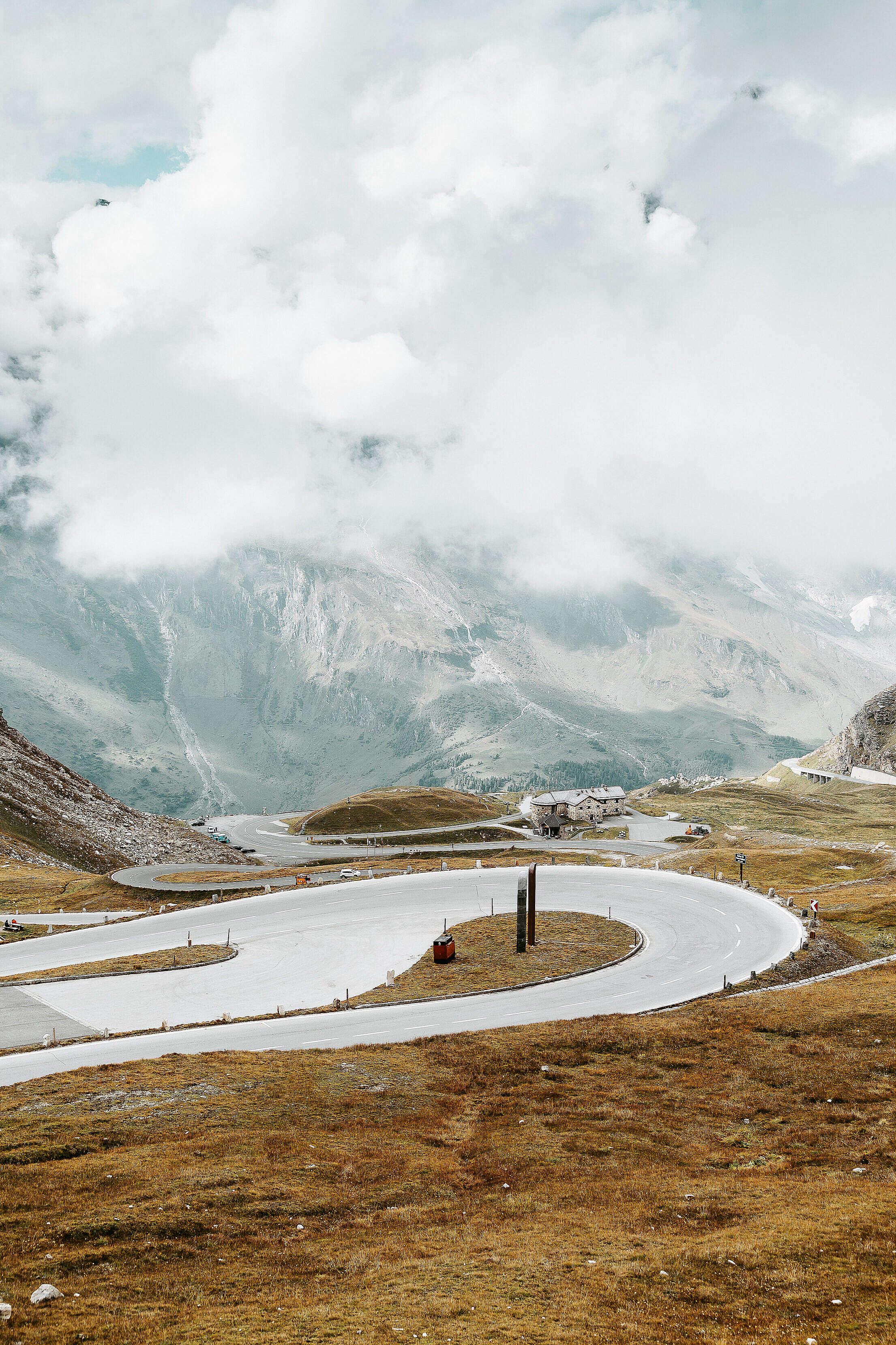 Hairpin Turn on Grossglockner High Alpine Road Free Stock Photo