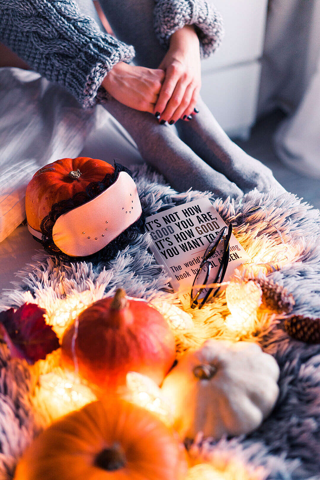 Download Halloween in Bed FREE Stock Photo