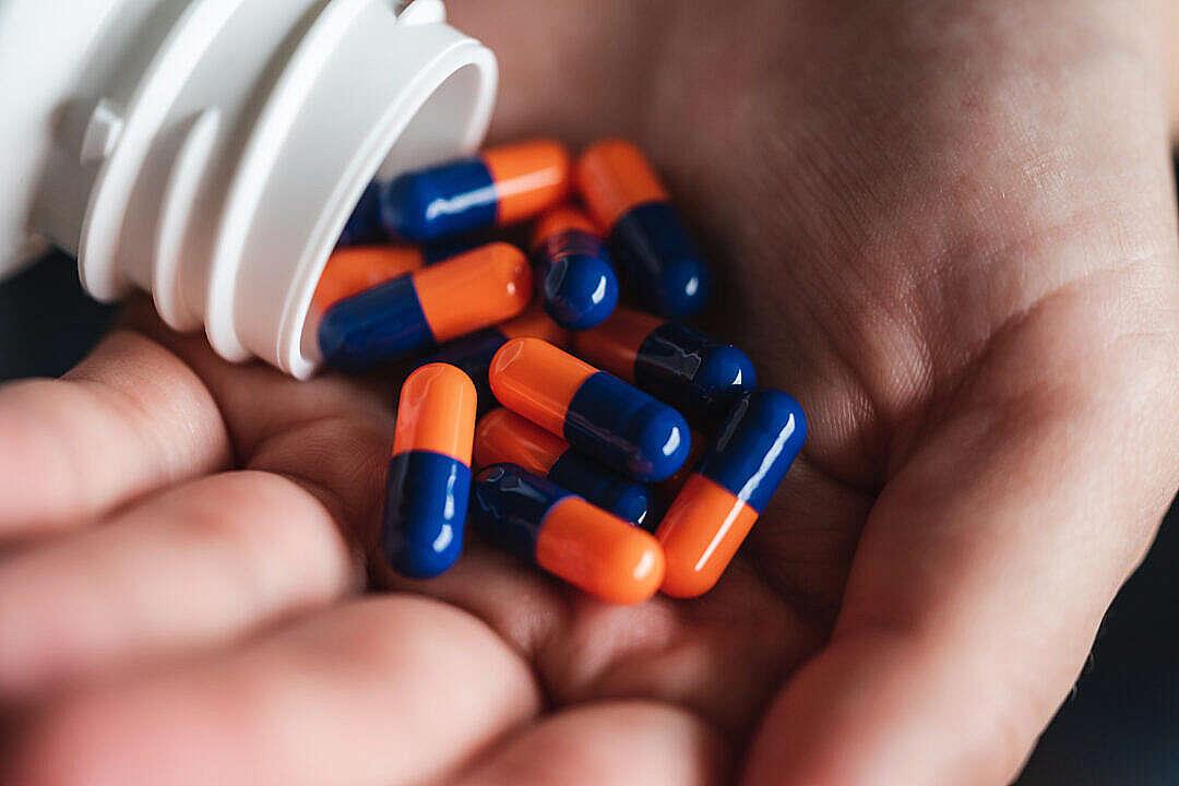 Download Handful of Smartdrugs Pills FREE Stock Photo