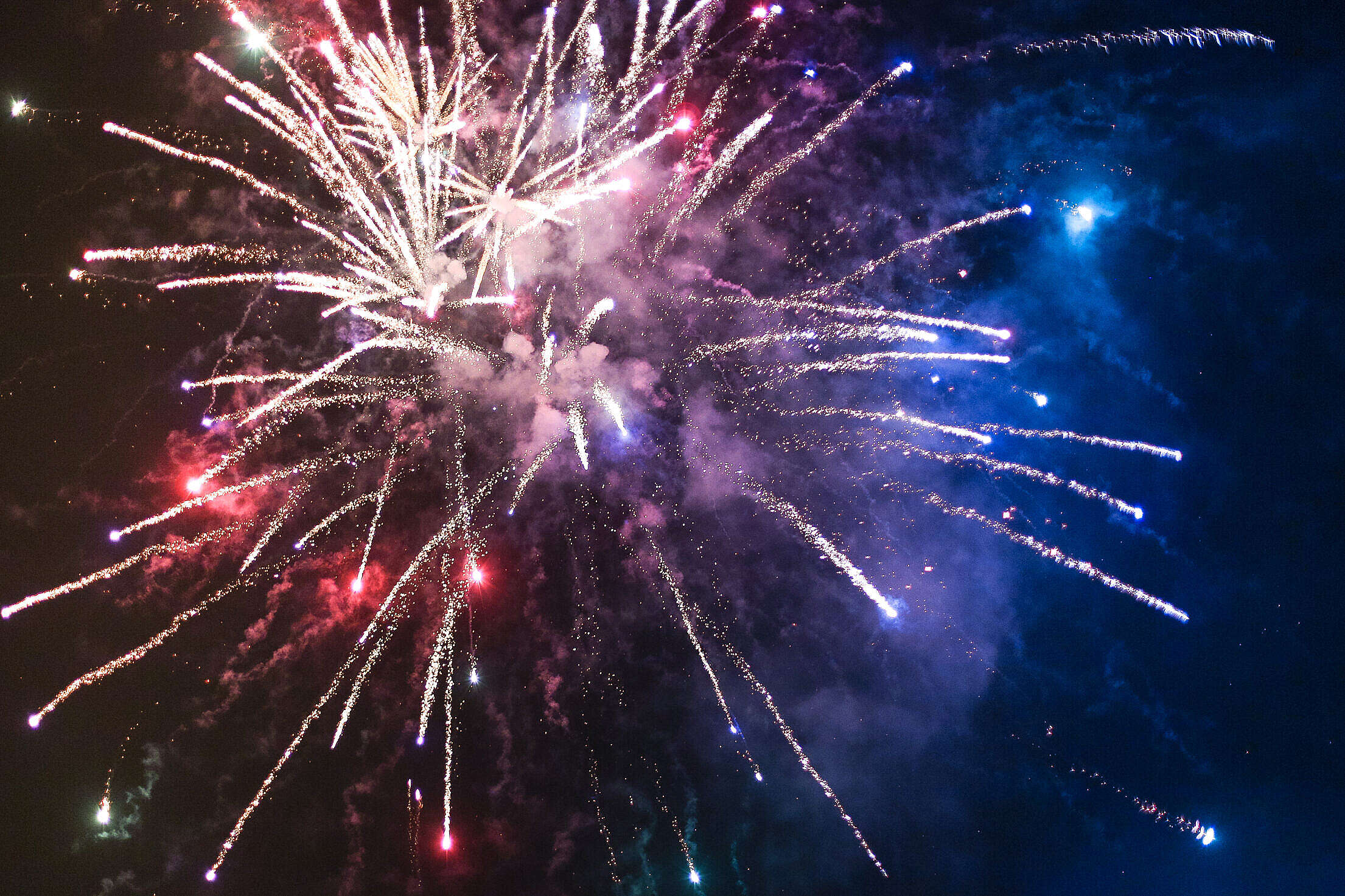 Happy 4th of July Fireworks Free Stock Photo