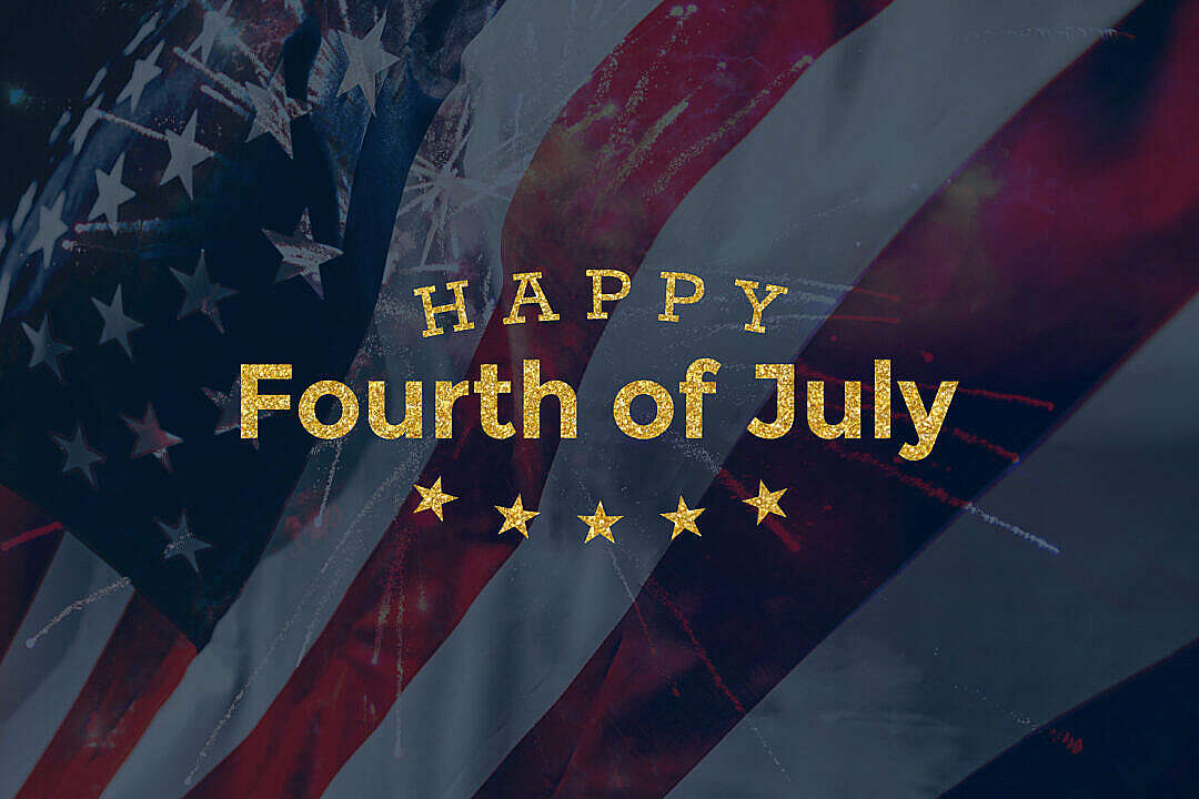 Download Happy Fourth of July Lettering FREE Stock Photo
