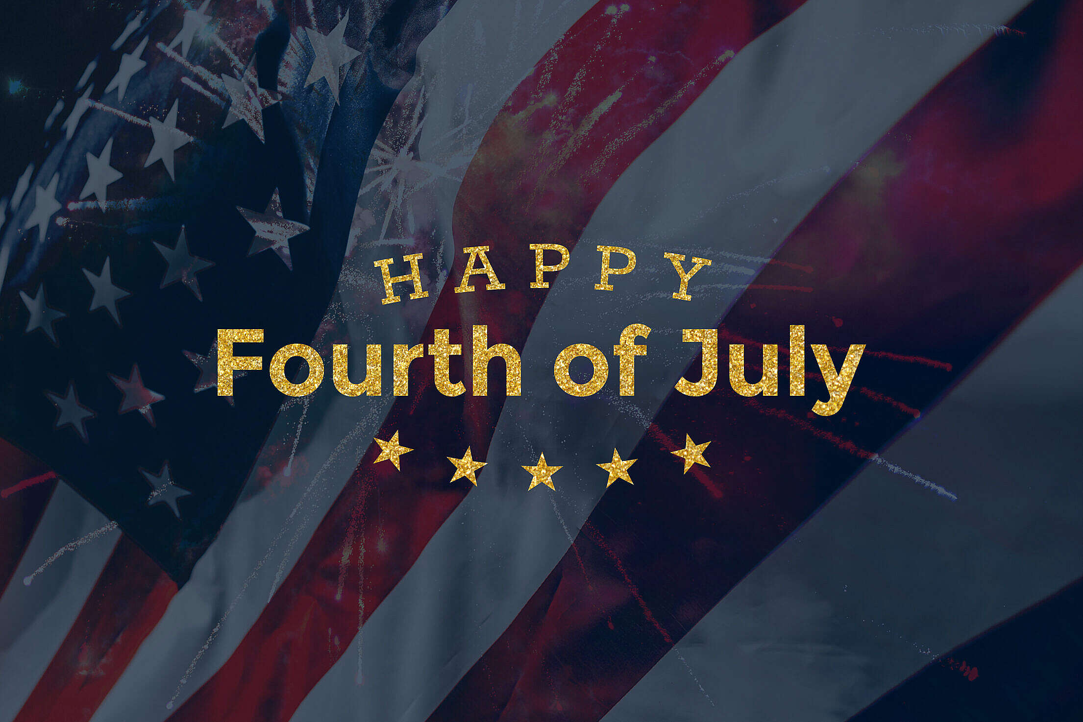 Happy Fourth of July Lettering Free Stock Photo