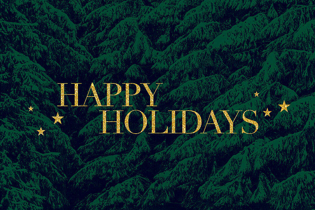 Download Happy Holidays Card FREE Stock Photo