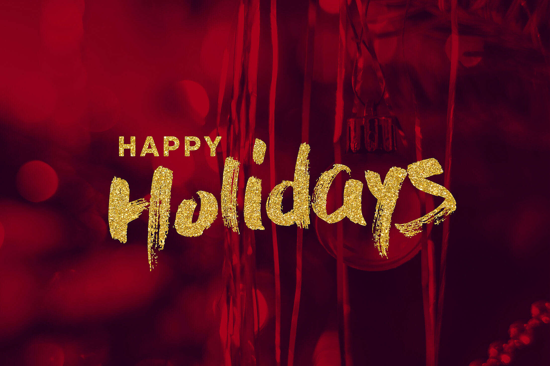 Happy Holidays Lettering Free Stock Photo
