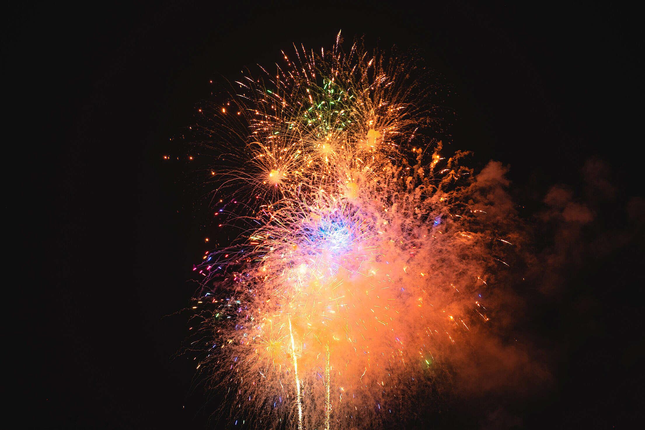 Happy New Year 2020 Fireworks Free Stock Photo