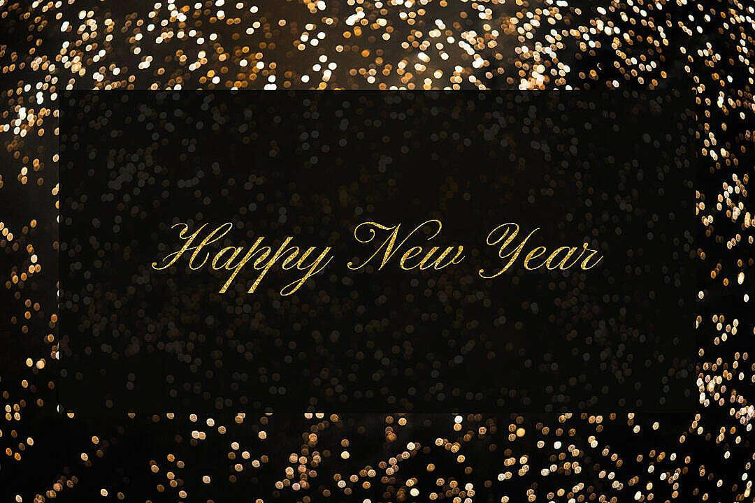 Download Happy New Year Black Box FREE Stock Photo